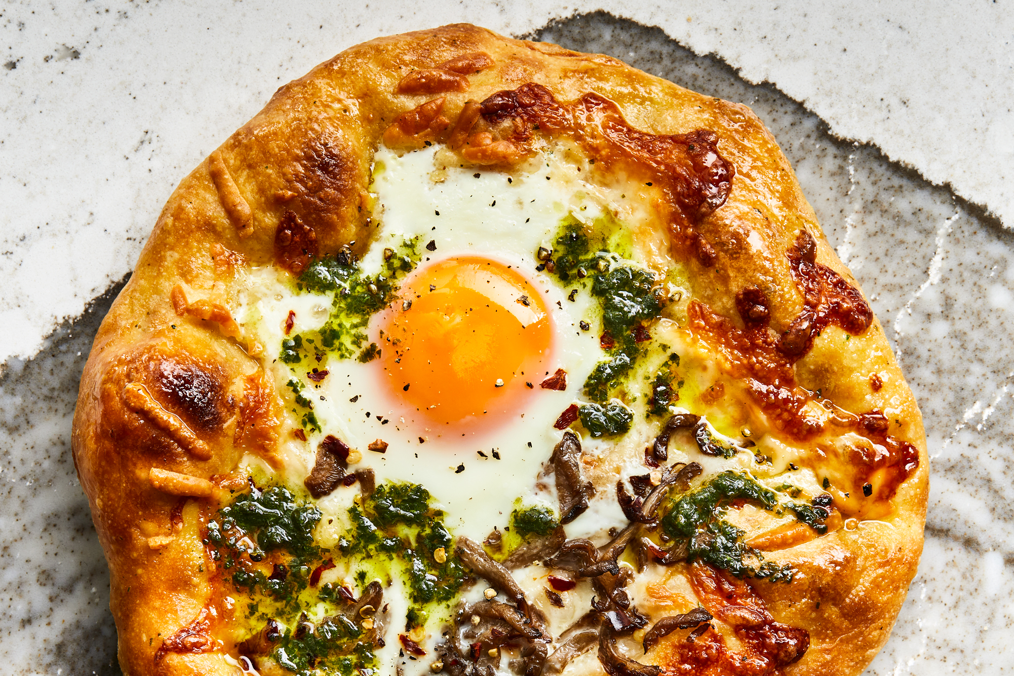 Smoky Breakfast Pizzas