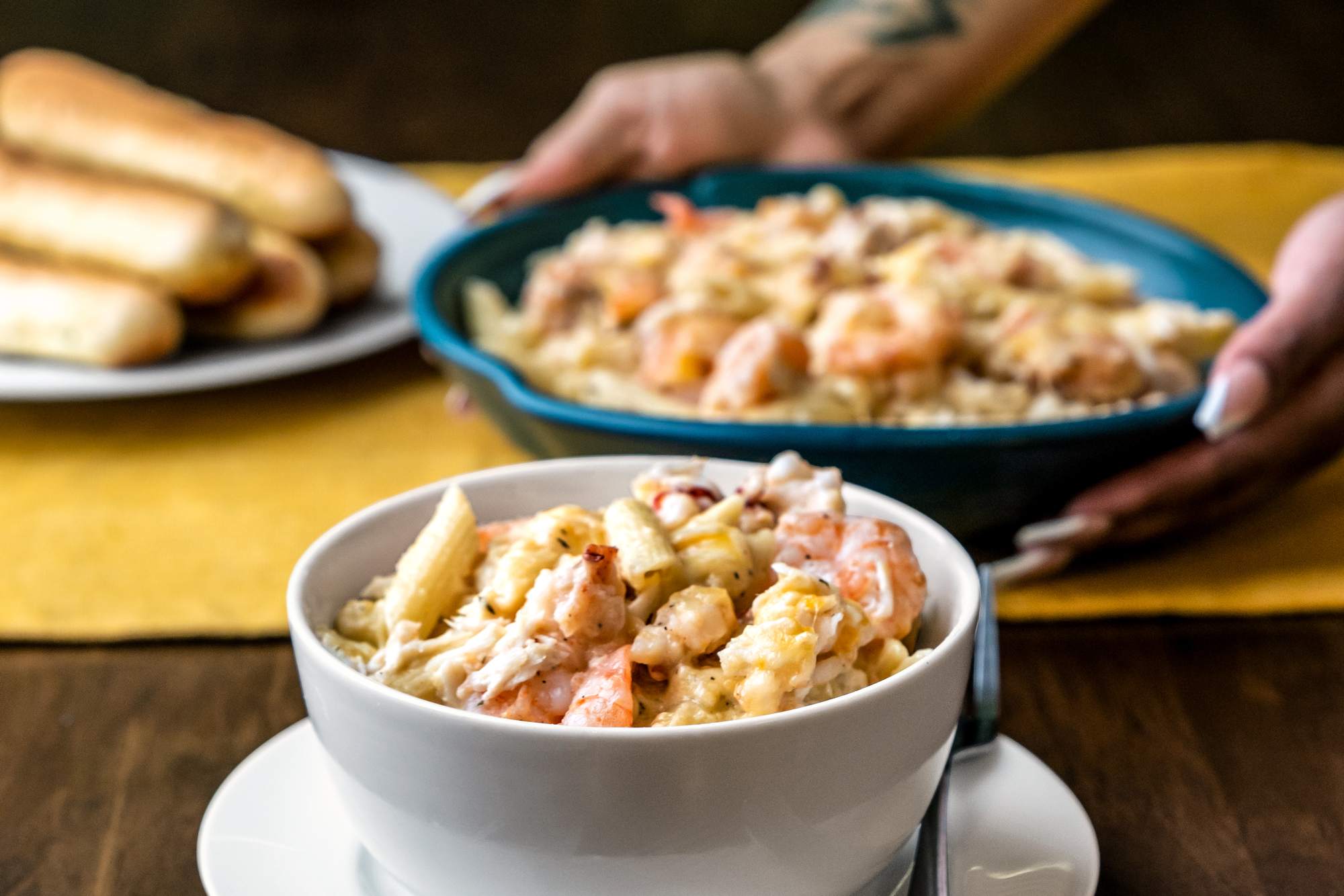 Auntie Monica's Seafood Mac and Cheese