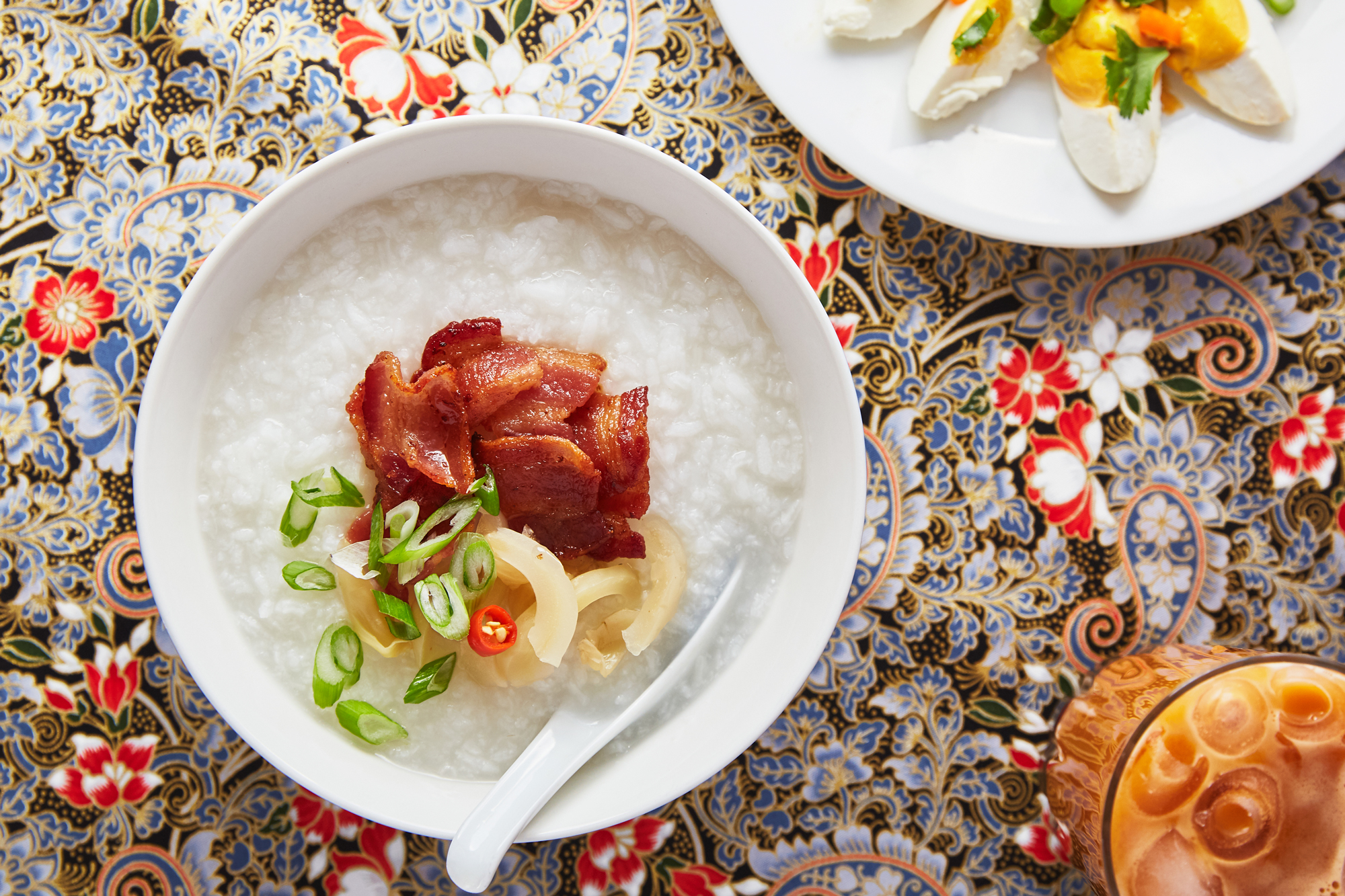 Kru Nid's Khao Tom (Thai Breakfast Porridge with Bacon)