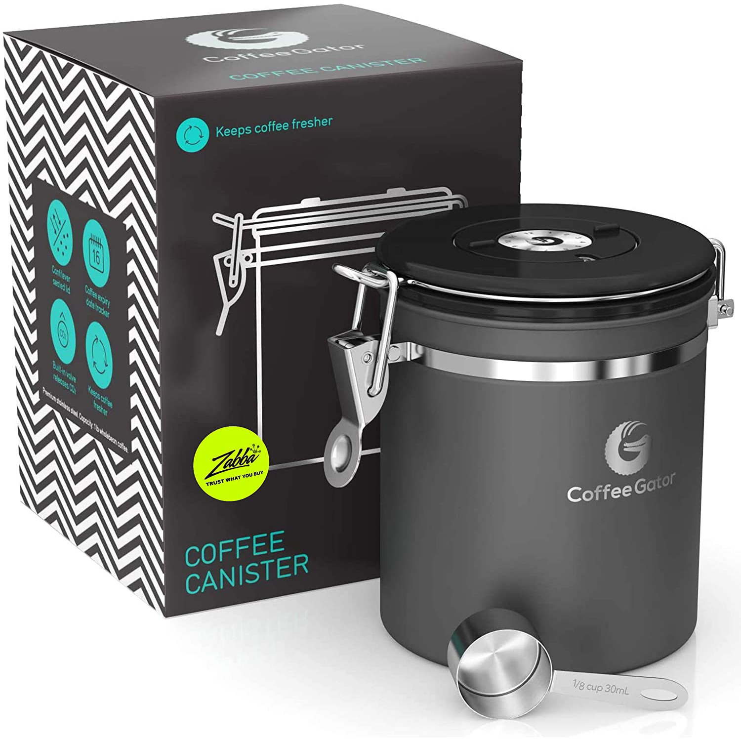 Coffee Gator Stainless Steel Caniser