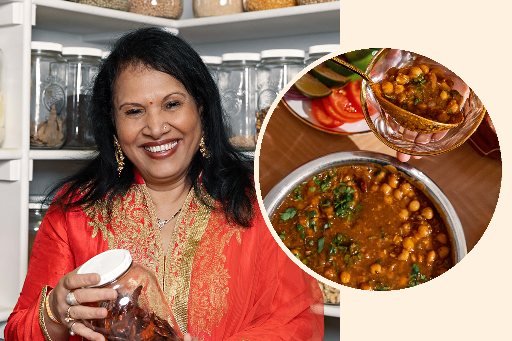 Auntie Hina Mody and her Chana Masala