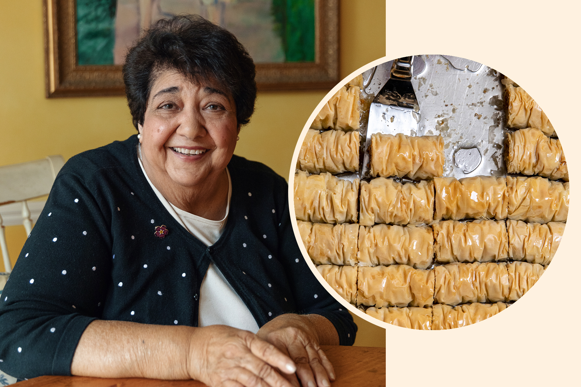 Auntie Roberta Kochakian and her Bourma (Armenian Phyllo Pastry with Walnuts)