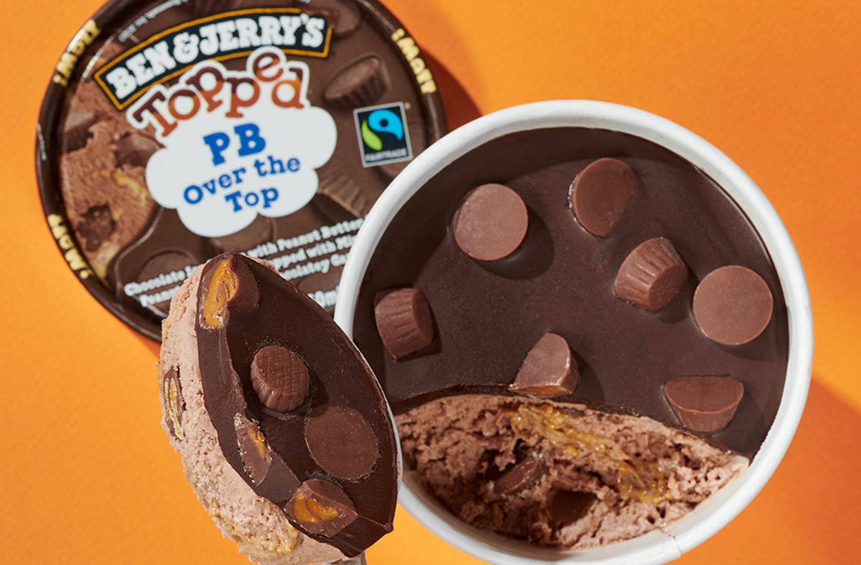 Ben & Jerry's new product, Topped
