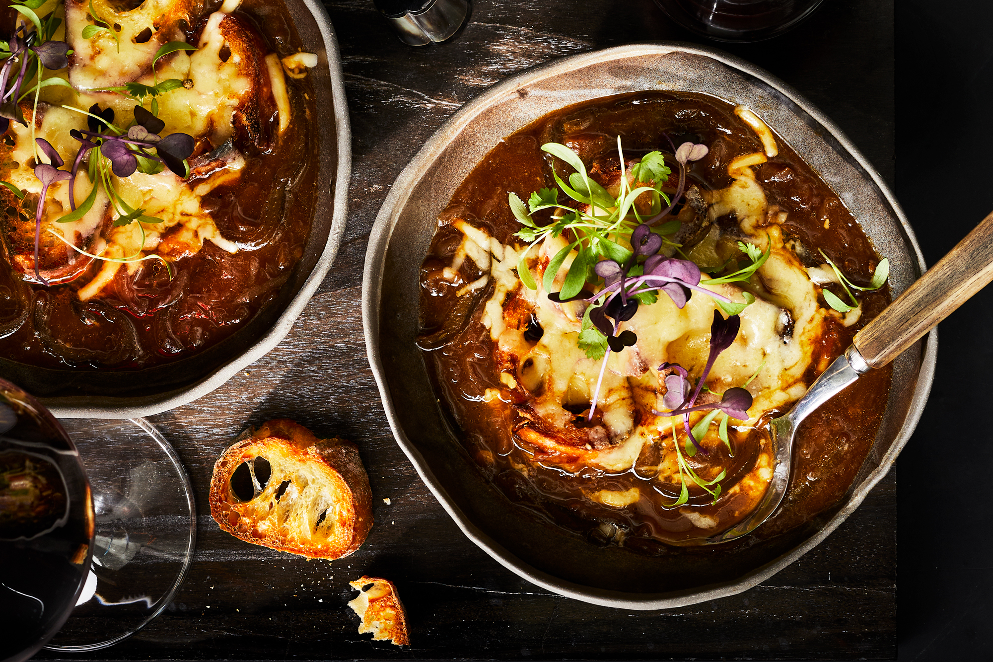 French Onion Soup with Roasted Poblano