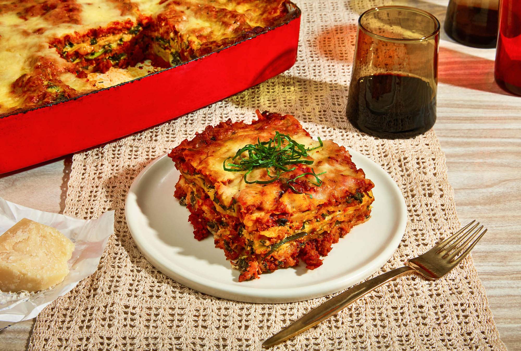 Lasagna Bolognese with Plant-Based Meat