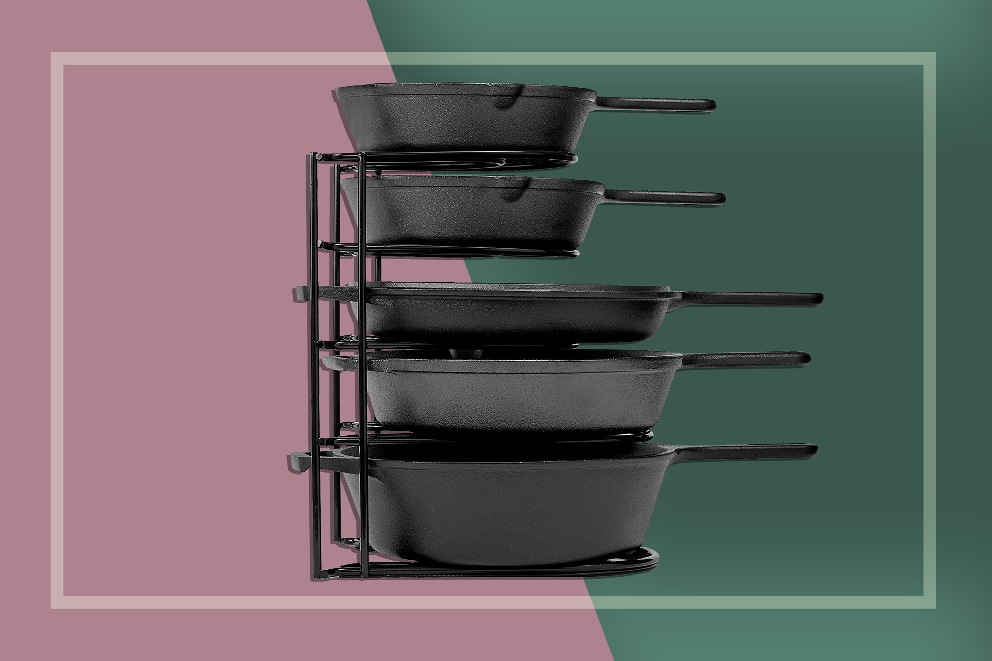 This Heavy-Duty Organizer Is the Best Way to Store Your Beloved Cast Iron Pans
