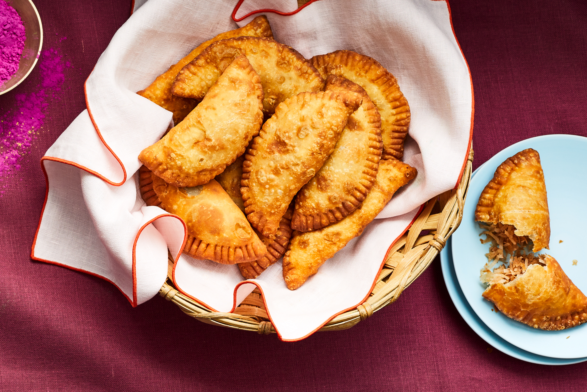 Guyanese Gojas (Fried Coconut Turnovers)