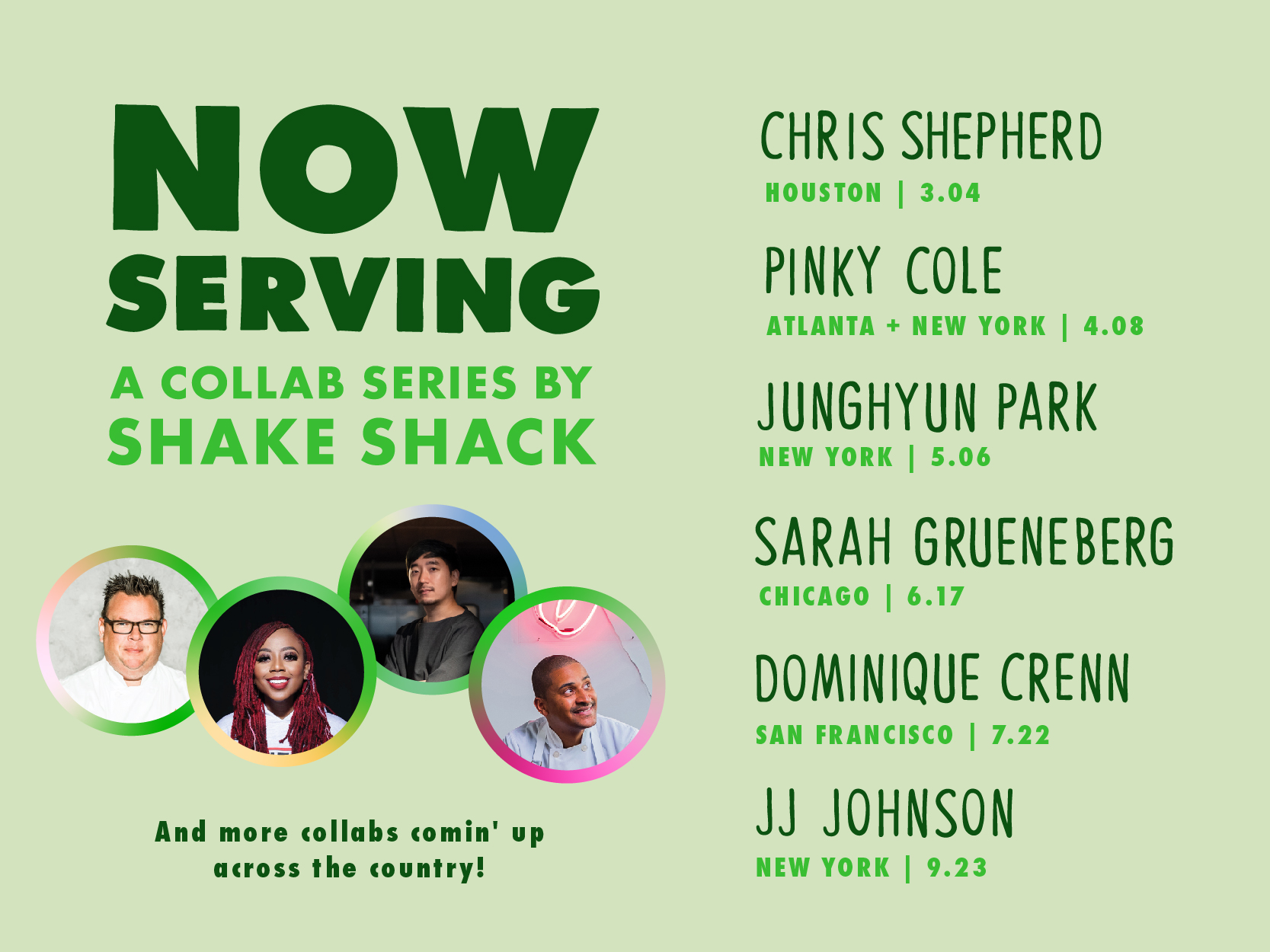 Shack Shack chef collaboration