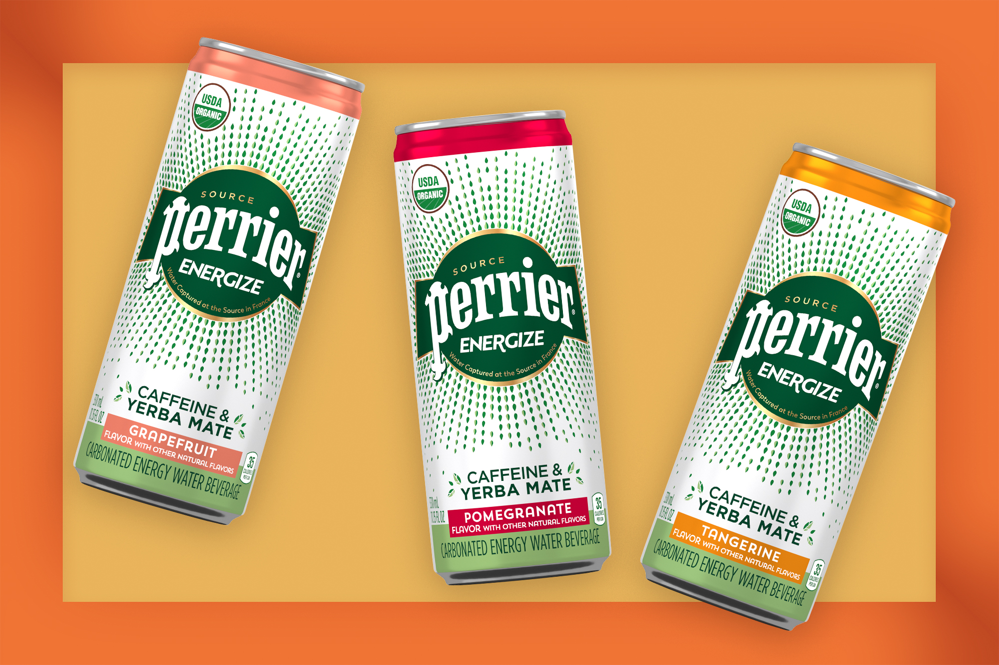 Perrier Energize cans