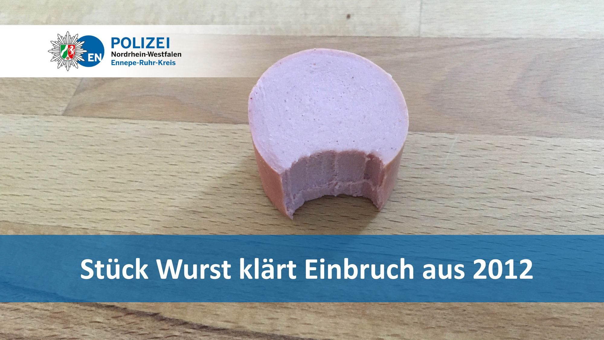 Wurst with a bite taken out
