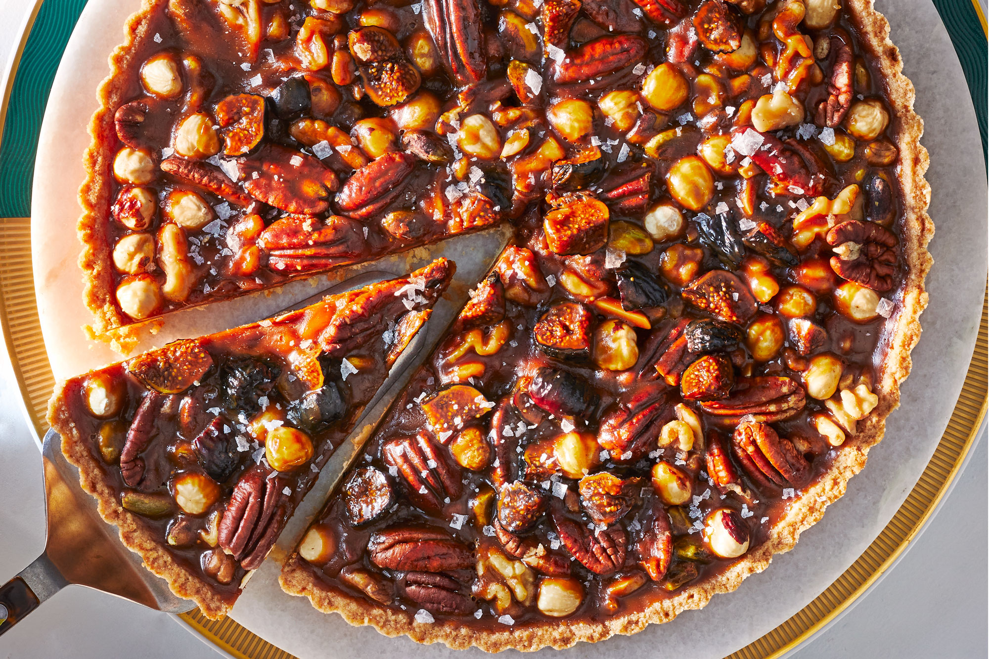 Fig and Caramel Nut Tart
