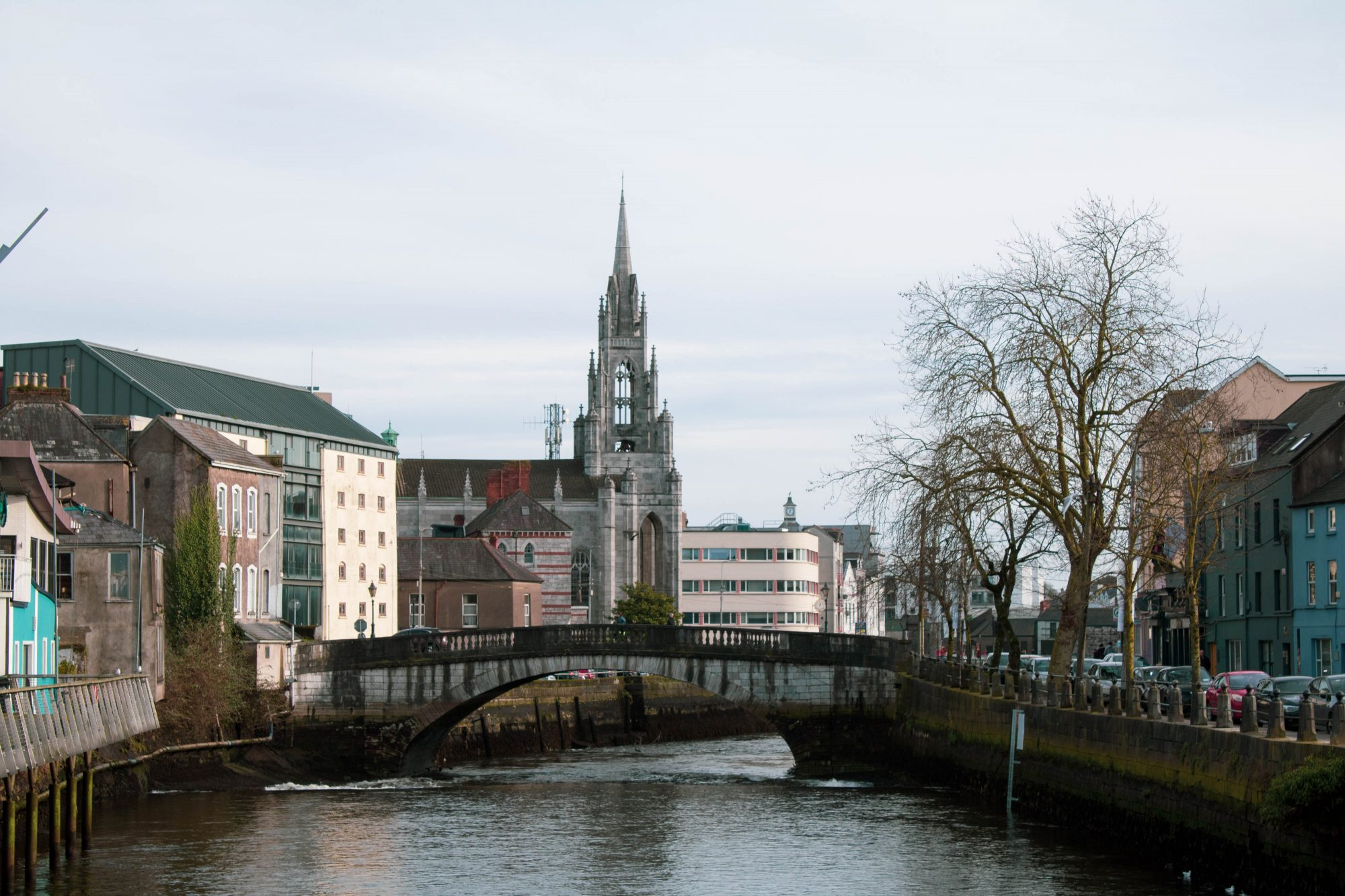 A view of Cork City from the Nano Nagle Bridge