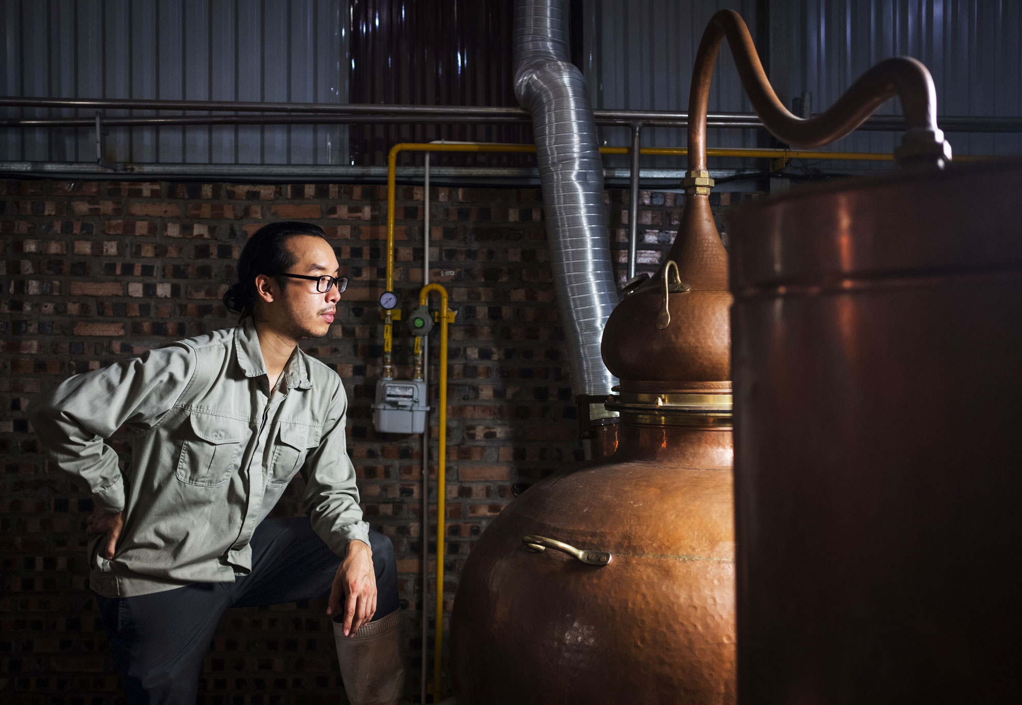 Gin maker Daniel Nguyen and the hand-hammered copper still