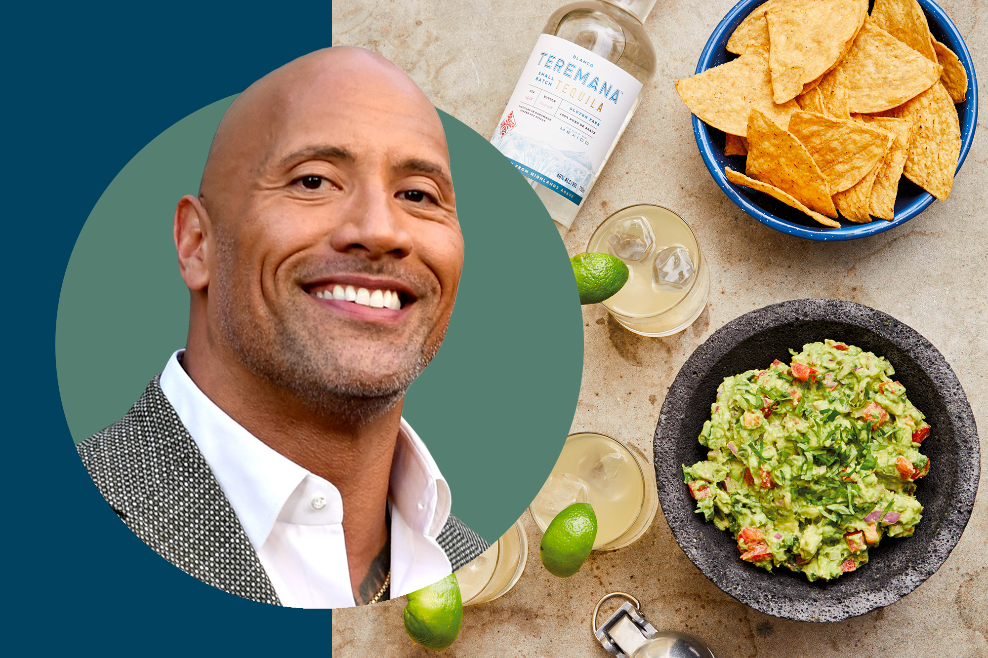 "Dwayne ""The Rock"" Johnson and his tequila with guacamole"