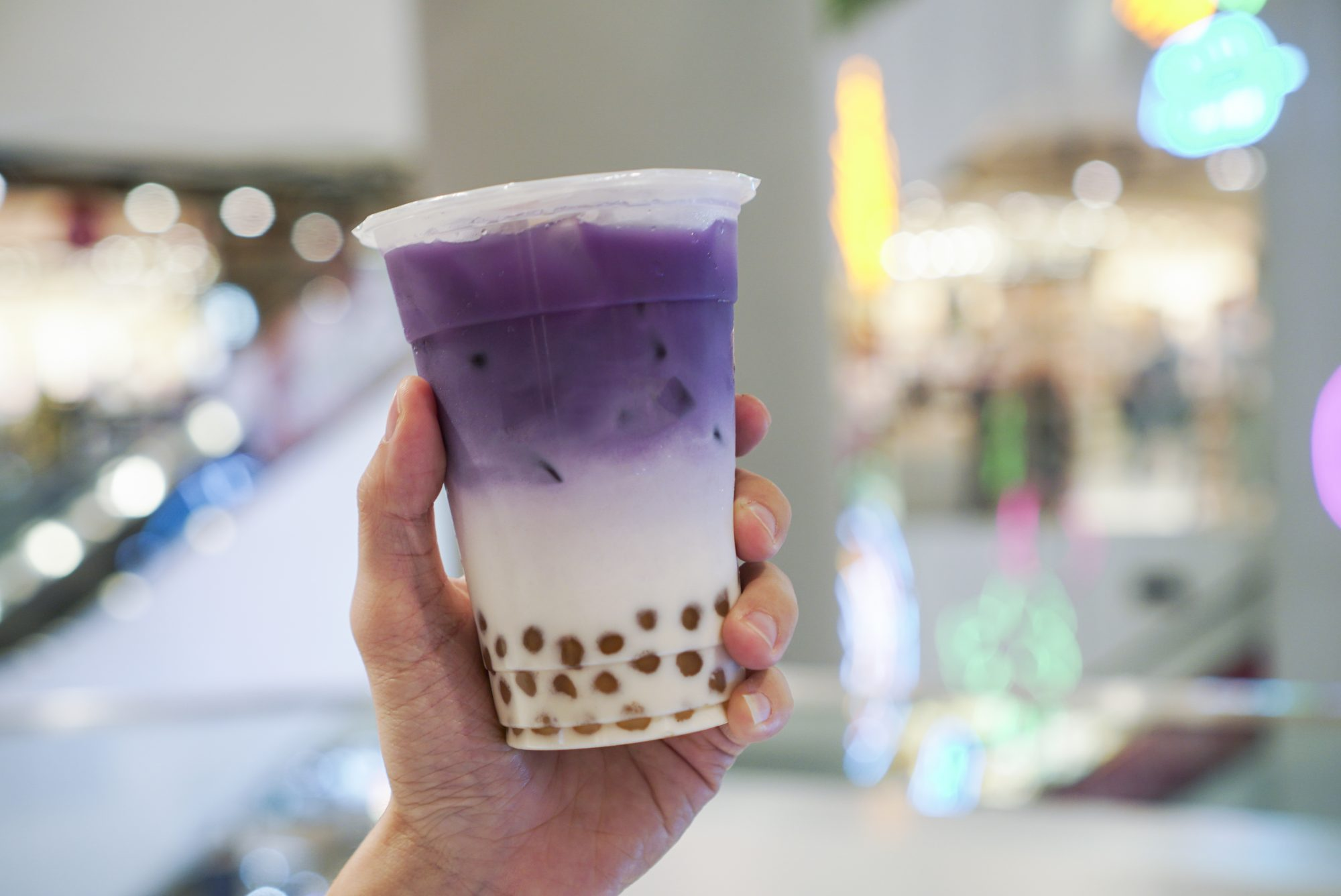 Purple Sweet Potato bubble drink.