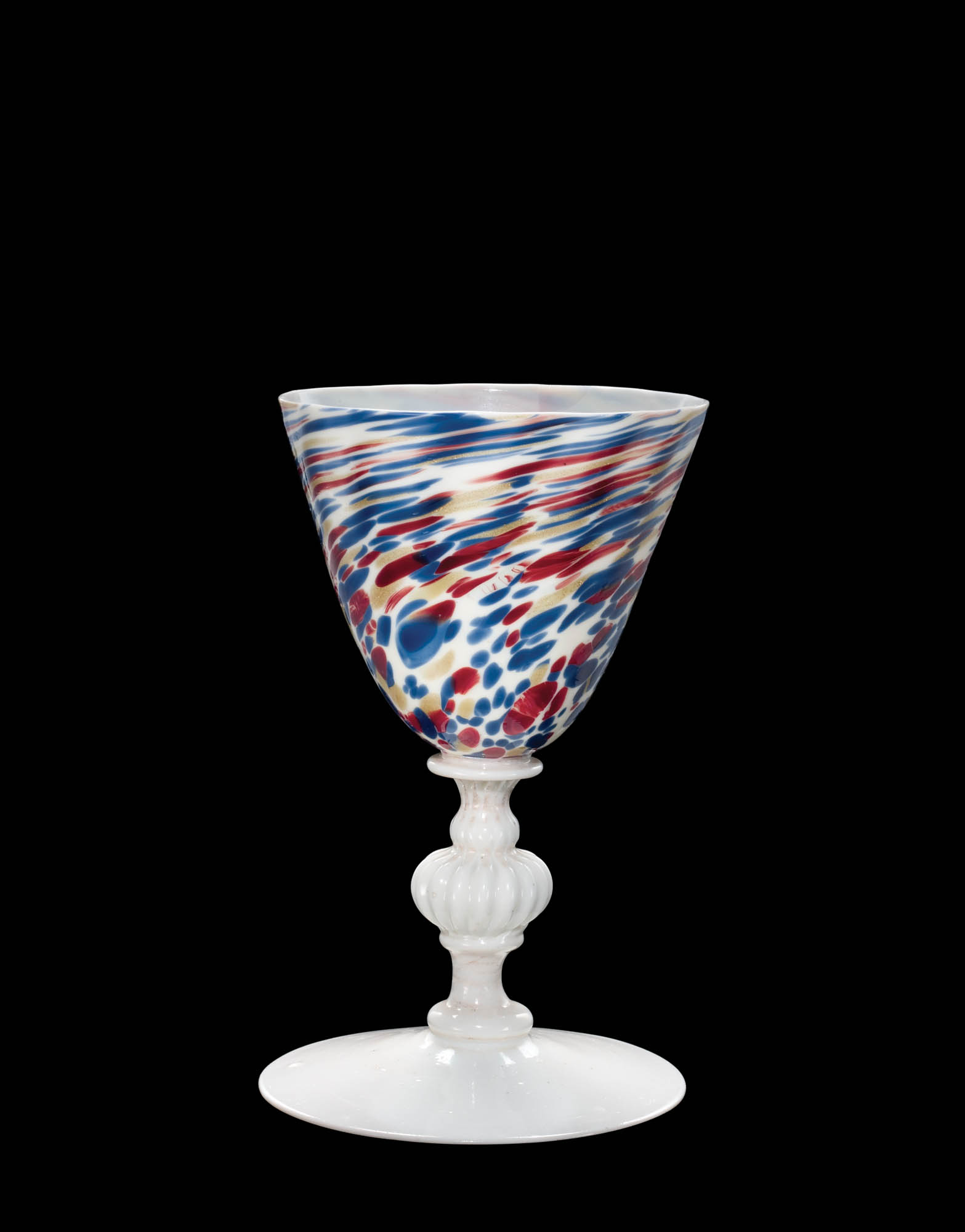 Goblet, 1600-1699 Blown, mold-blown, and tooled glass