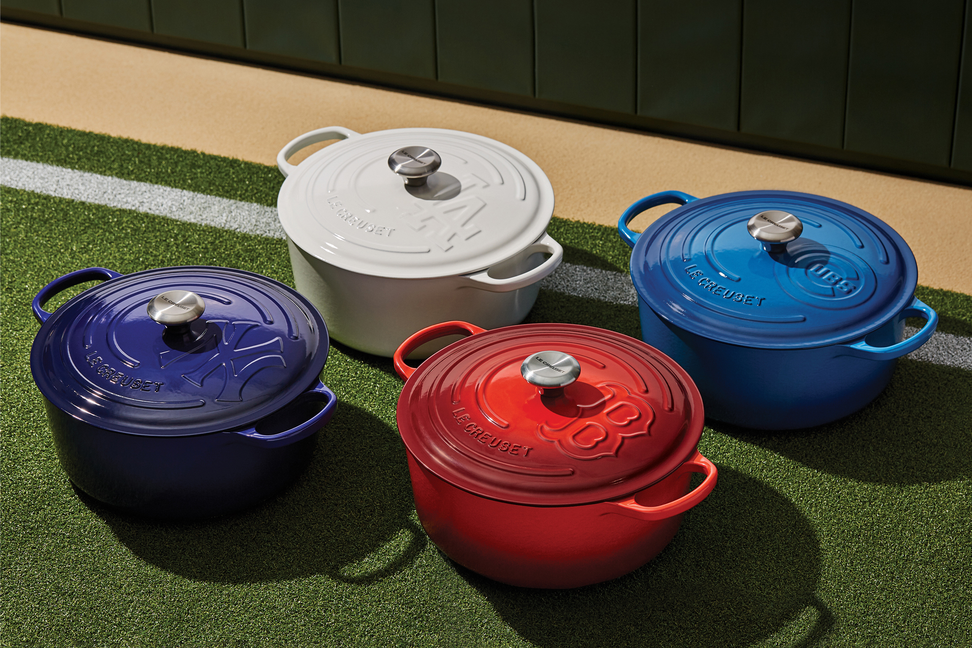 le creuset mlb signature series dutch ovens