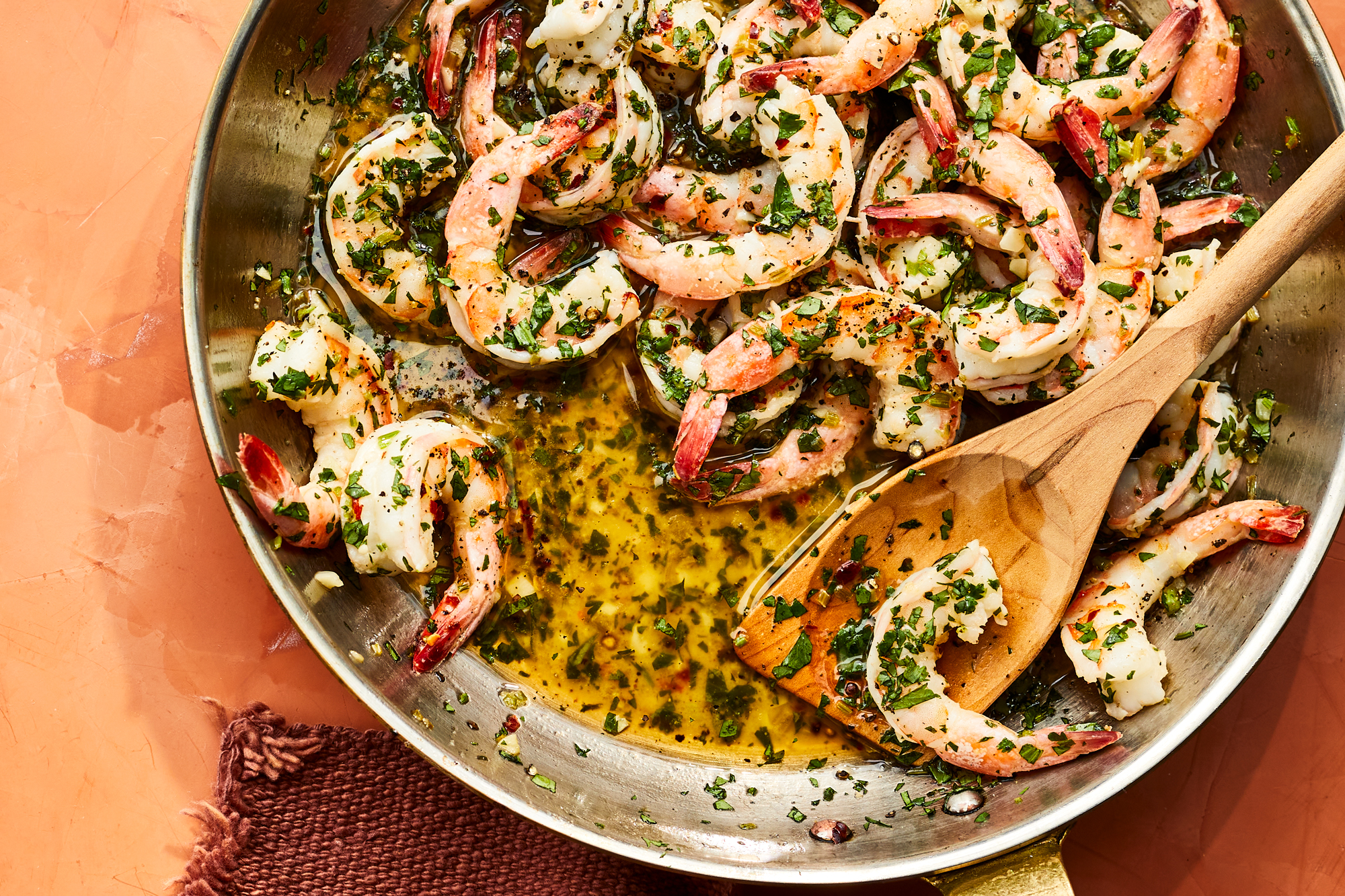 Cilantro Lime Shrimp Scampi