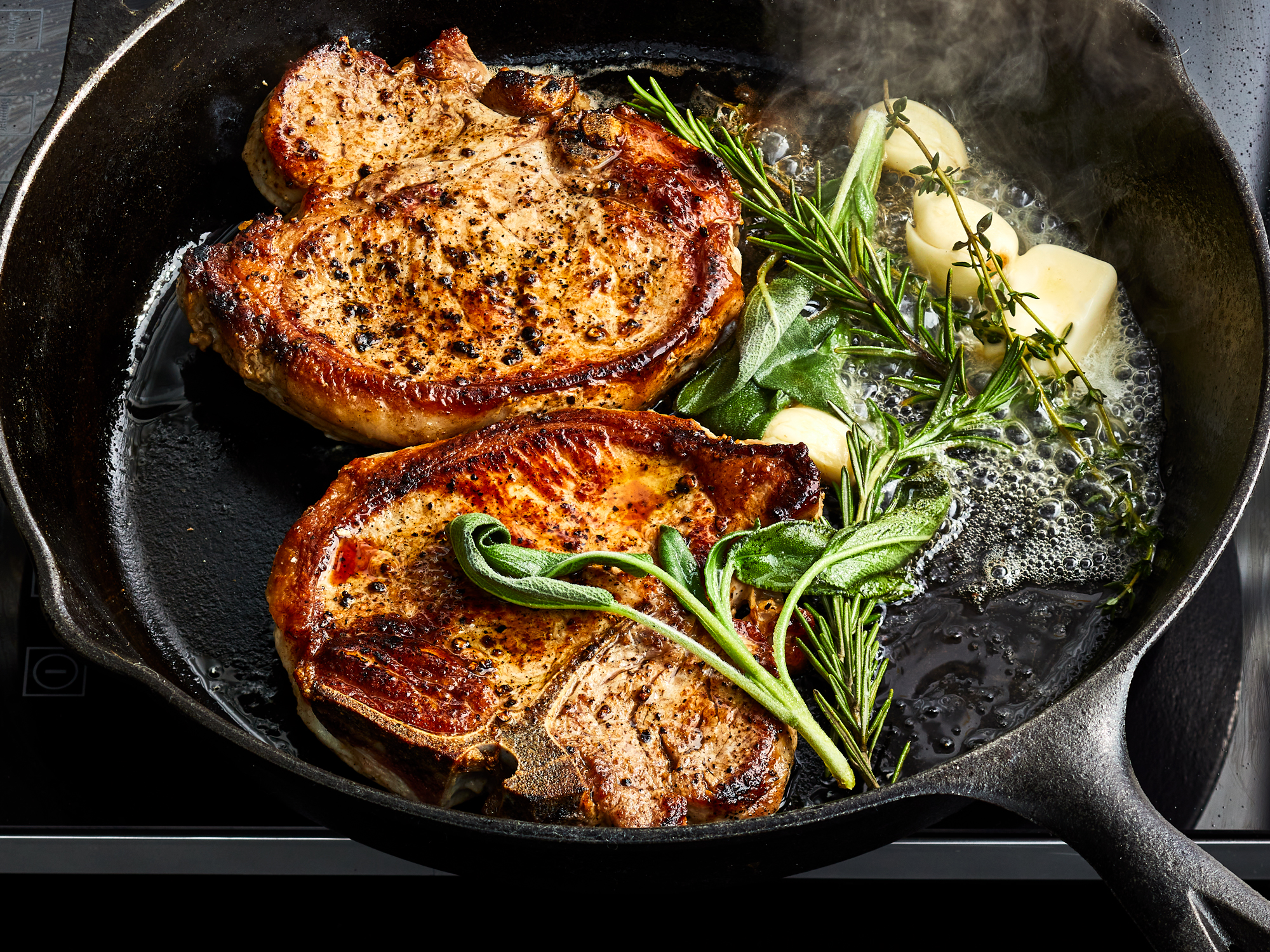 Herb Basted Pork Chops
