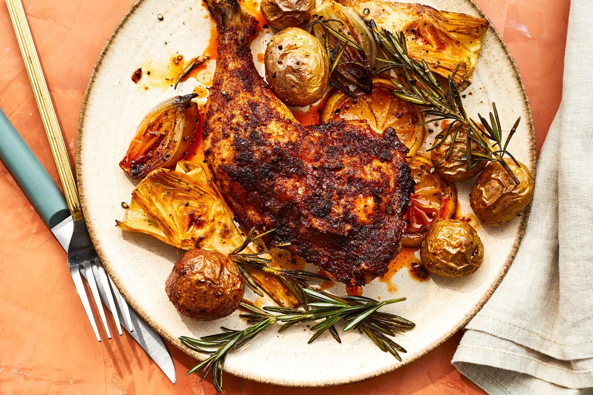 Rosemary Roasted Chicken with Artichokes and Potatoes