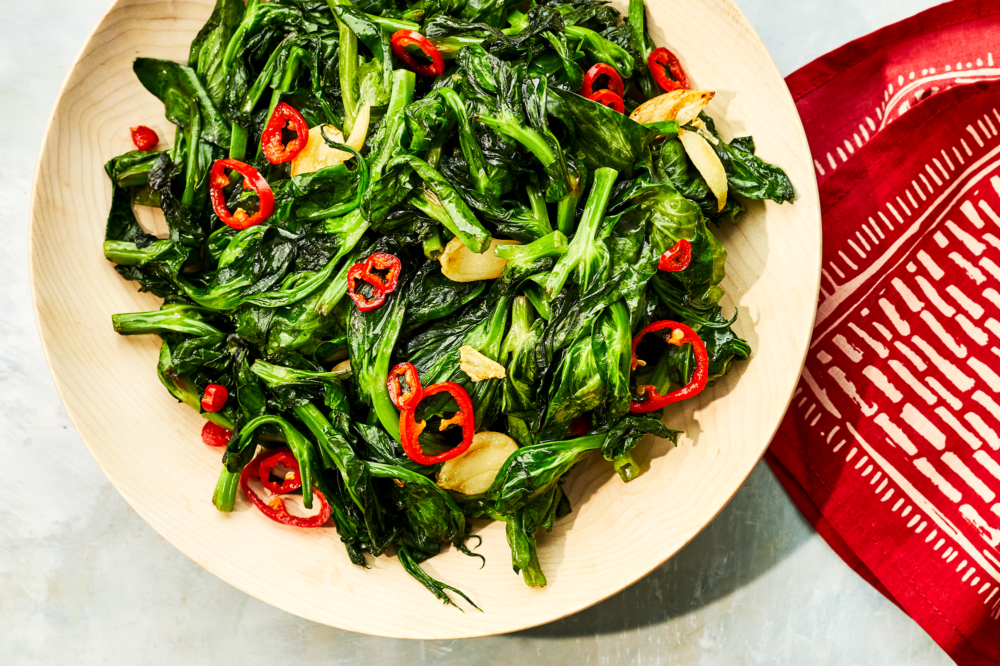 Stir-Fried Garlicky Snow Pea Shoots