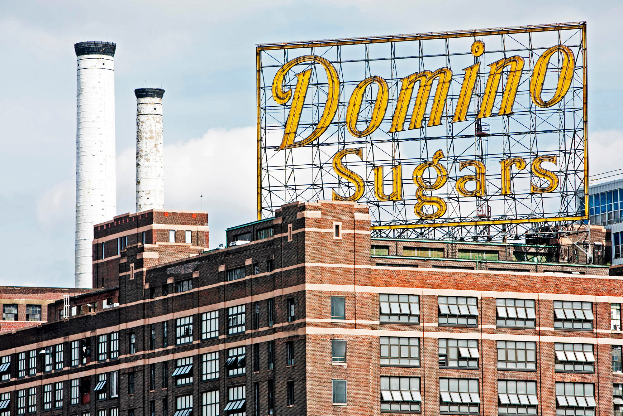 Domino Sugar Factory exterior and sign