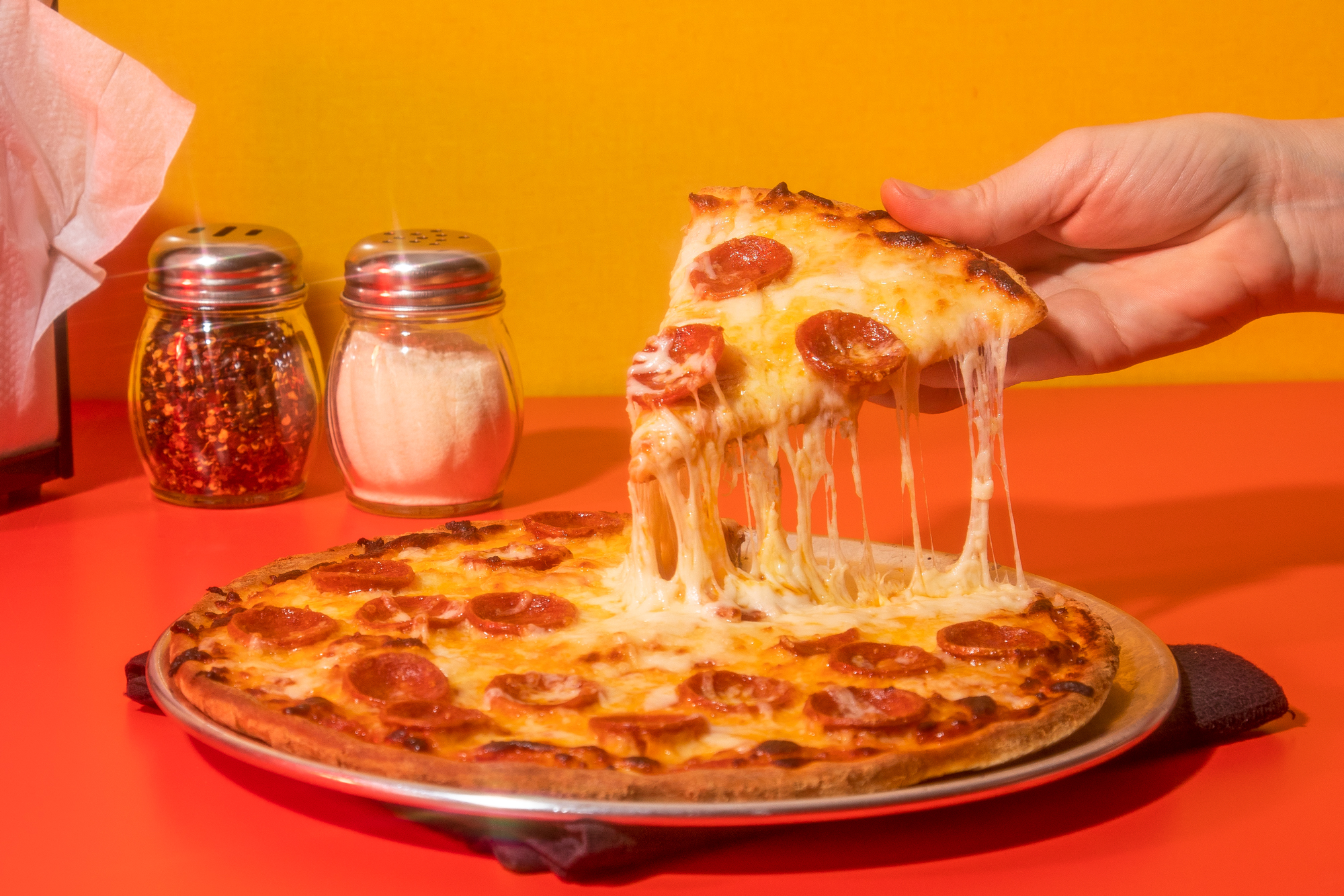Pepperoni Pizza Cheese Pull