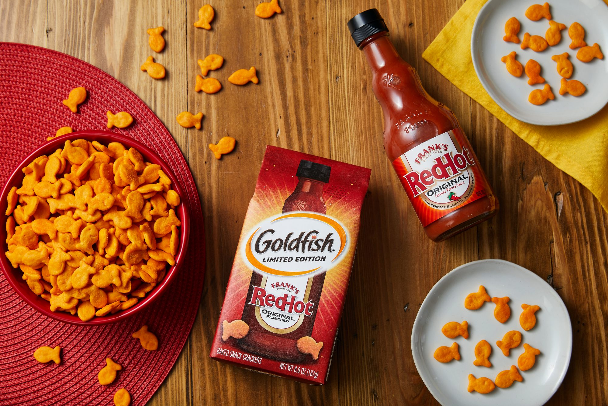 Frank's Red Hot Goldfish crackers