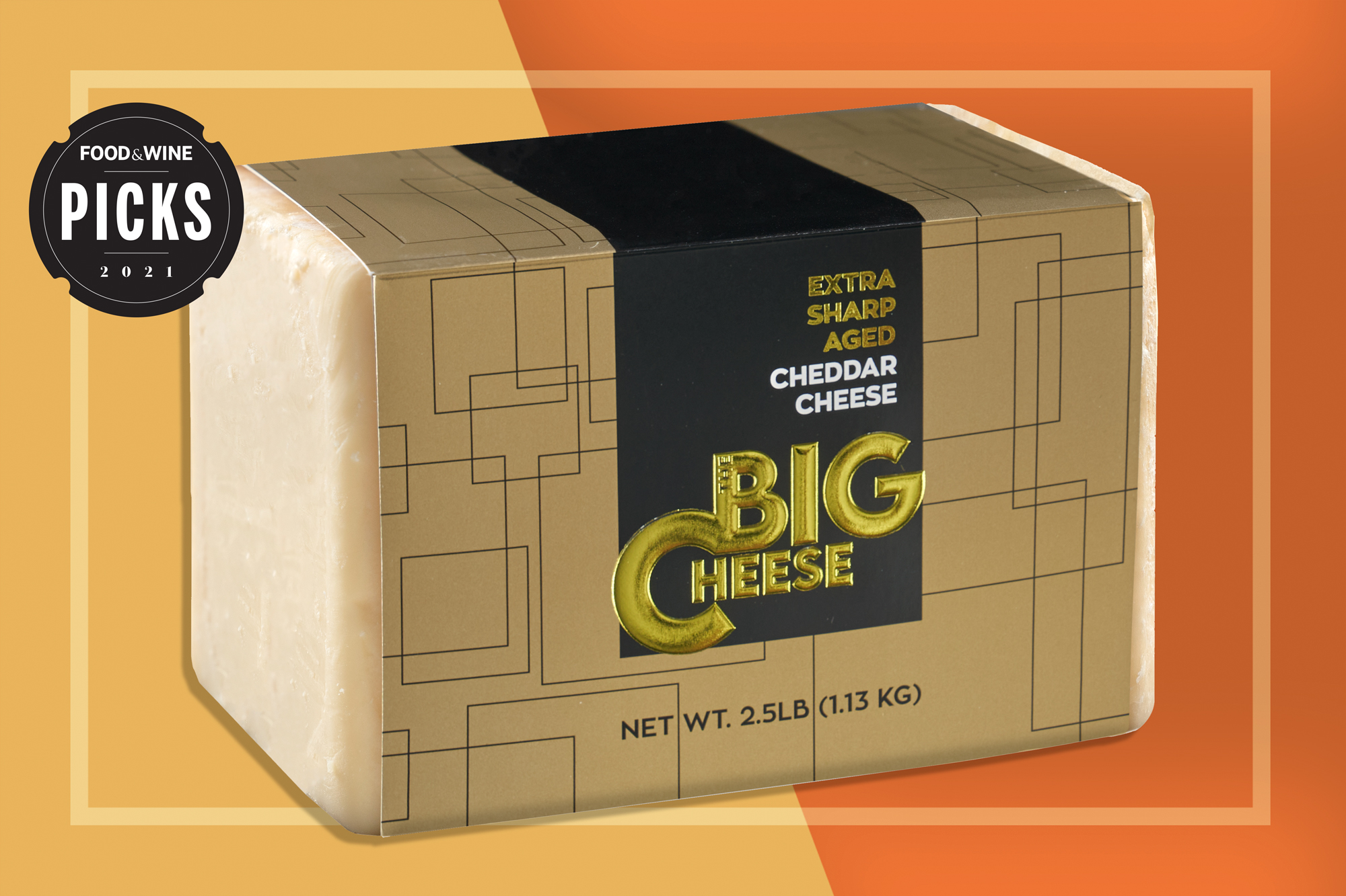 The Big Cheese 2.5 pound cheddar block