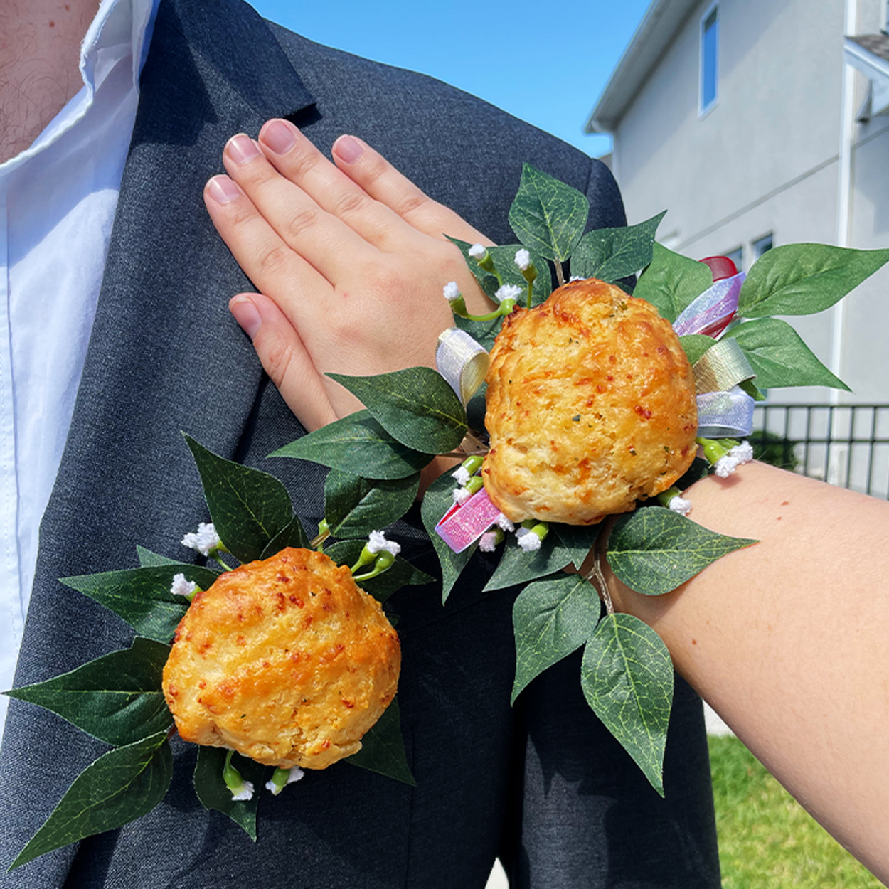Red Lobster Cheddar Bay Biscuit Boutonniere and Corsage