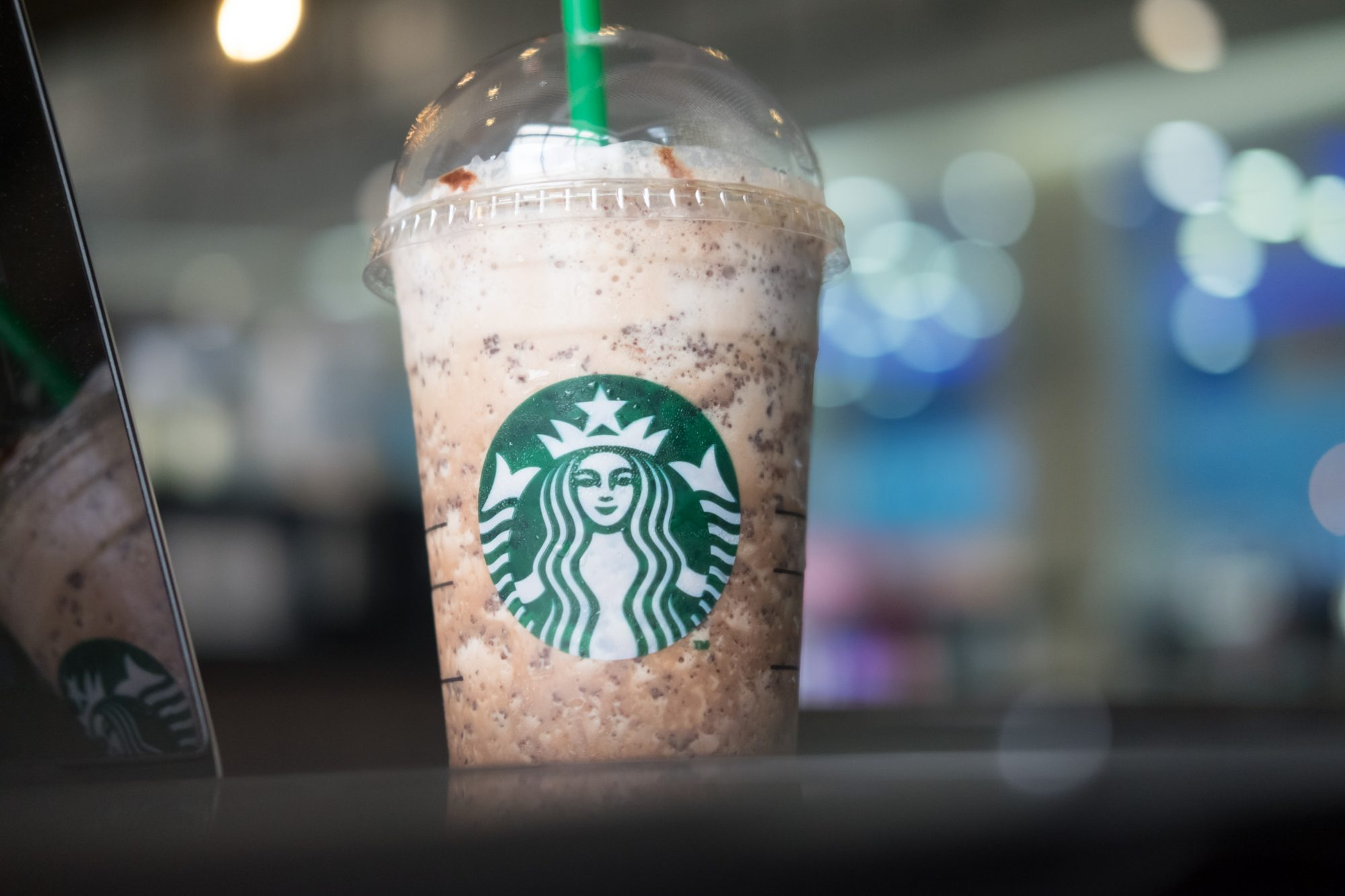 Starbucks Frappuccinos are coffee drinks blended
