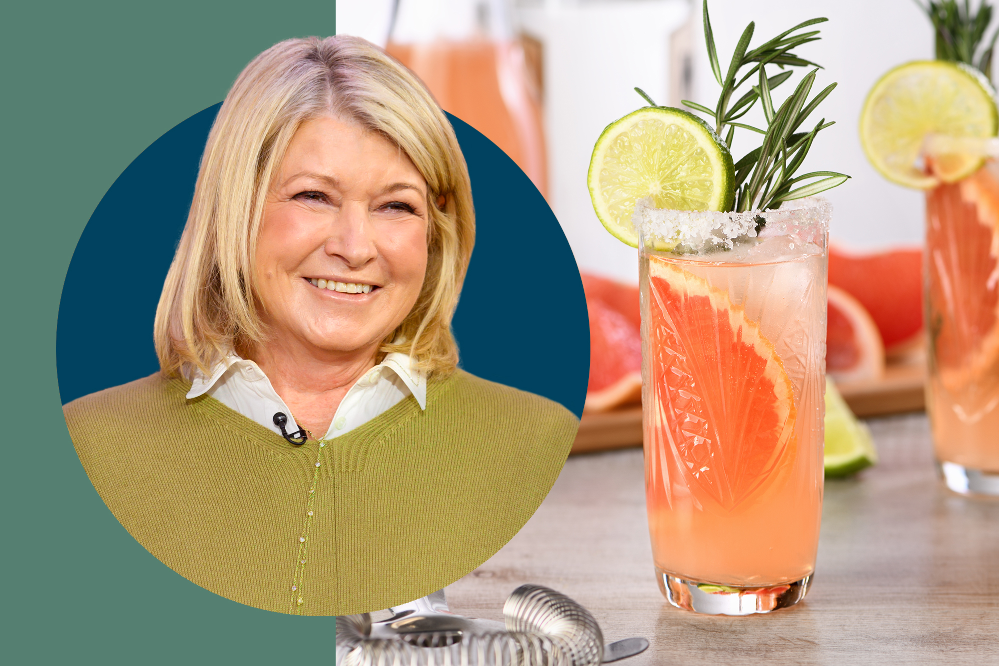 Martha Steward and Grapefruit Cocktail