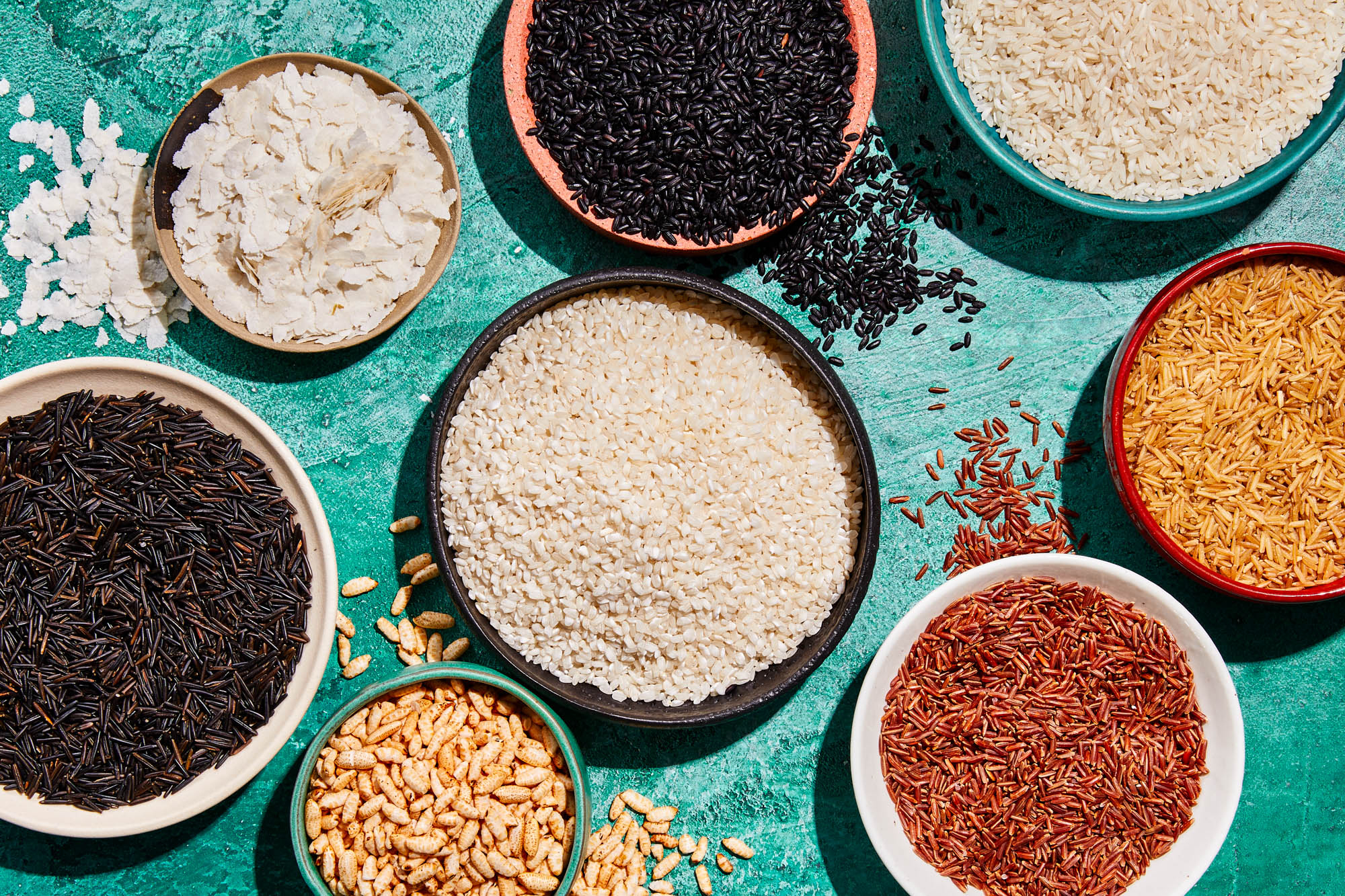 Different types of rice
