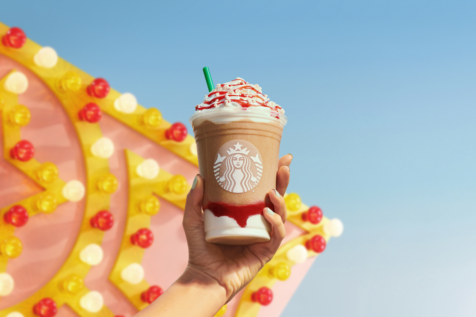 Starbucks Strawberry Funnel Cake Frappuccino