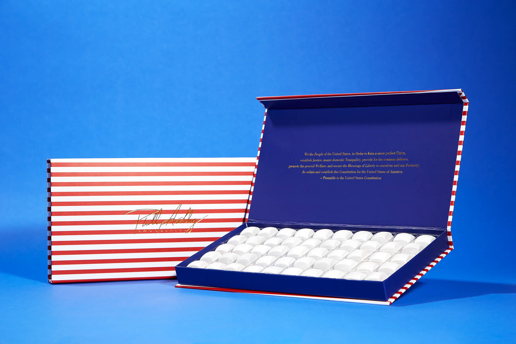 "Phillip Ashley Chocolates ""Taste of America"" box"