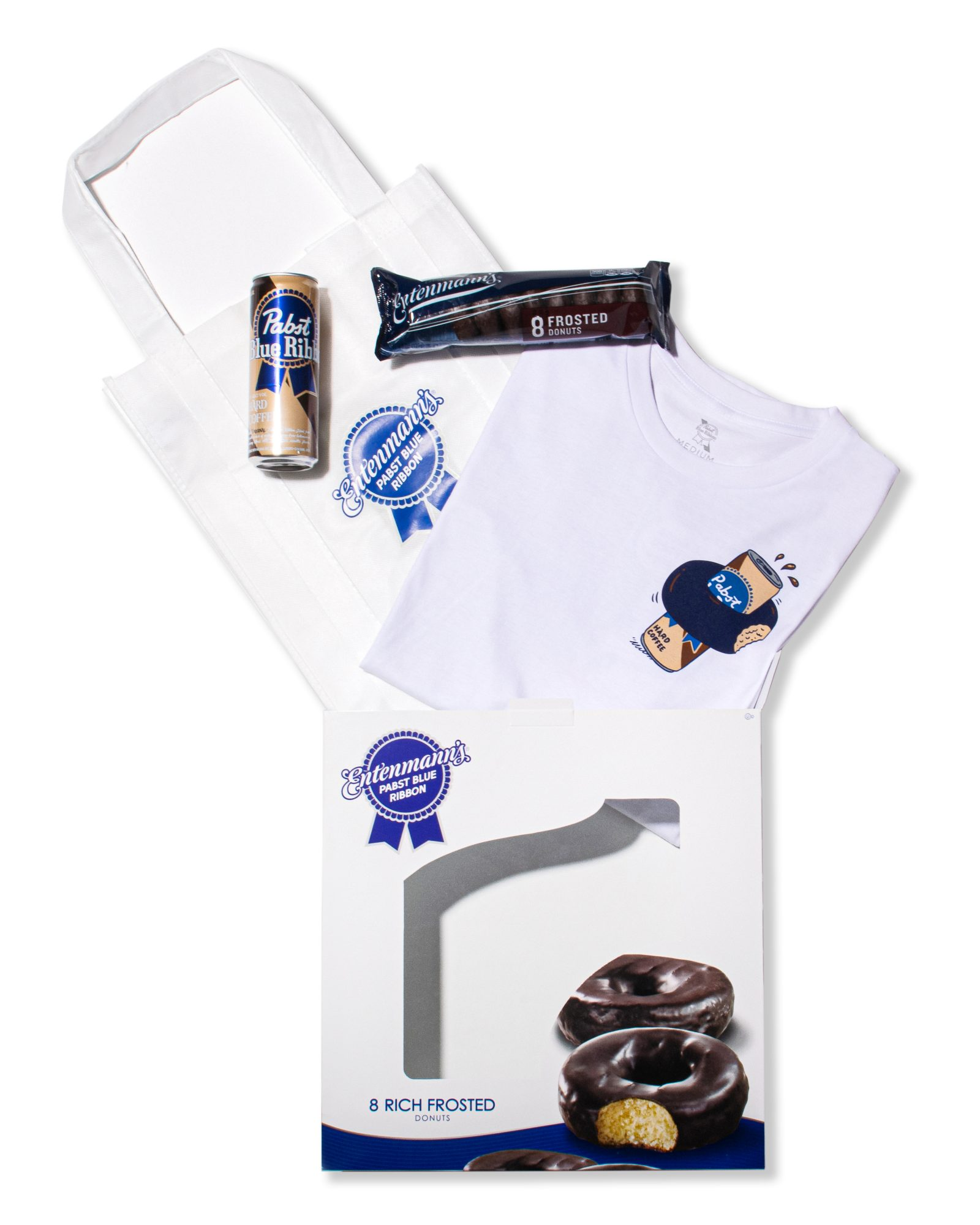 PBR and Entenmann's Hard Coffee and Donut Pairing Kit