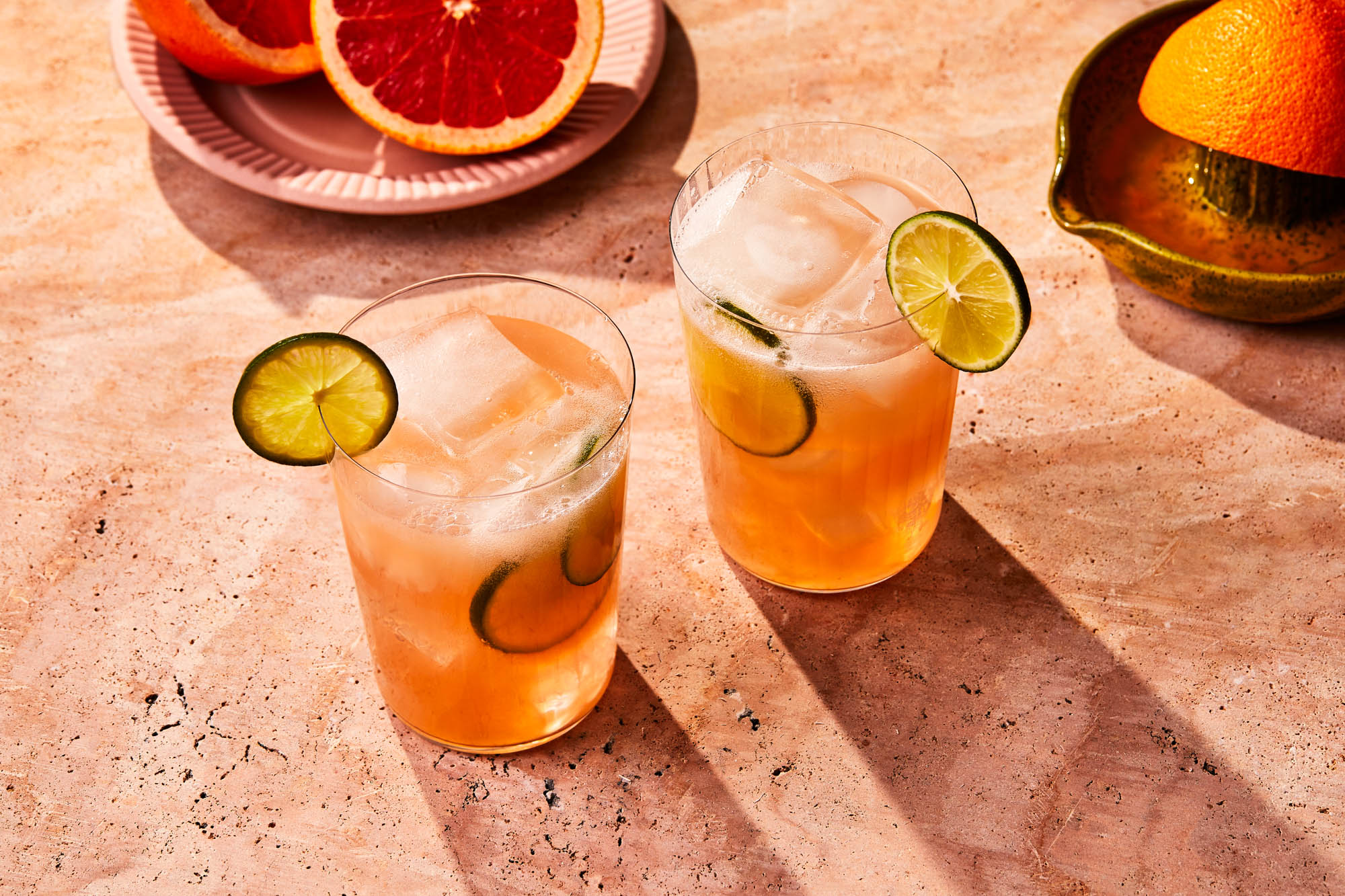 Two Paloma cocktails