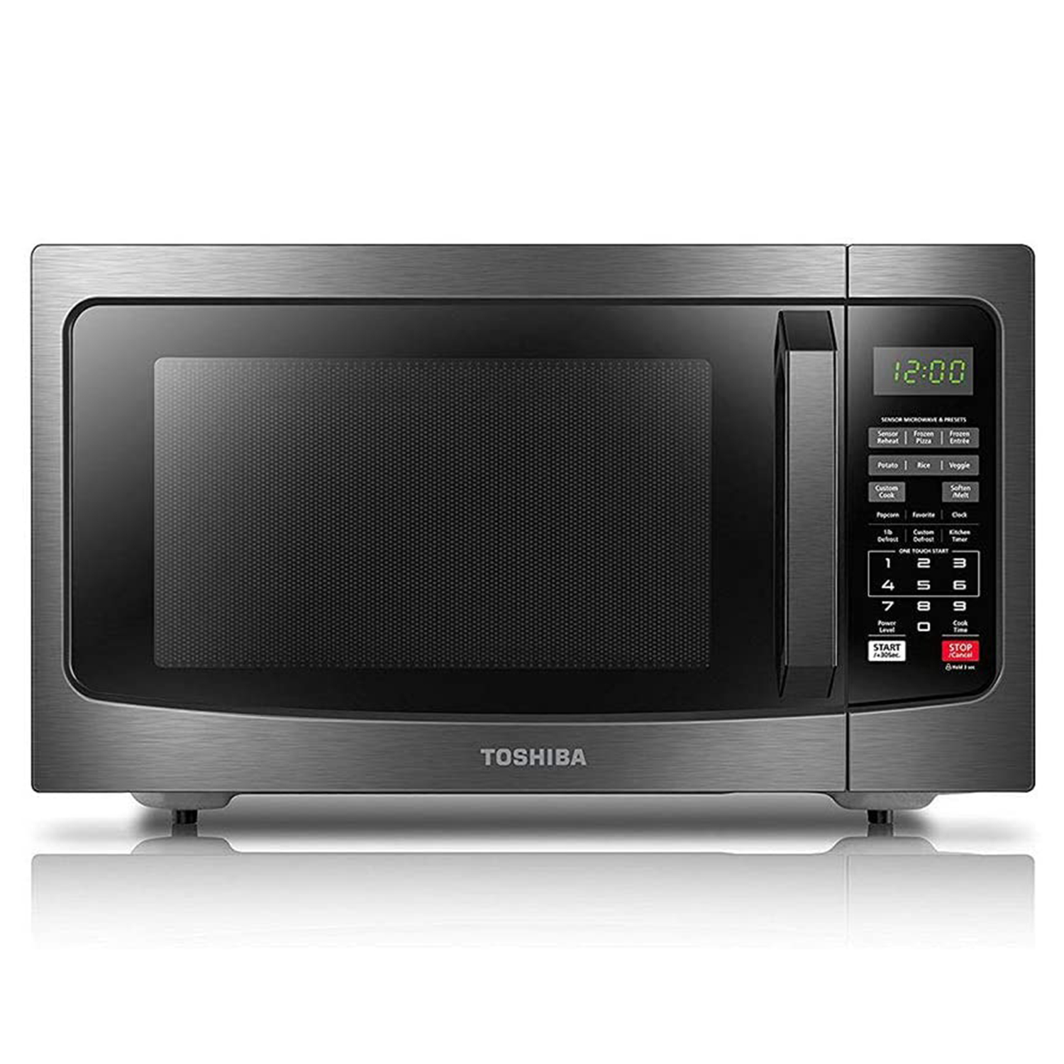 Toshiba EM131A5C-BS Microwave Oven with Smart Sensor Easy Clean Interior