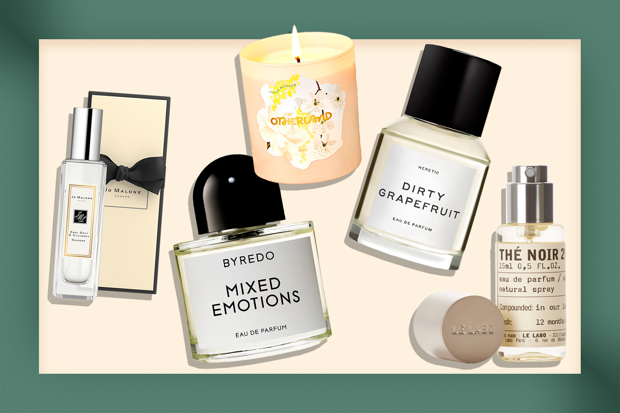 Tea perfumes and candle