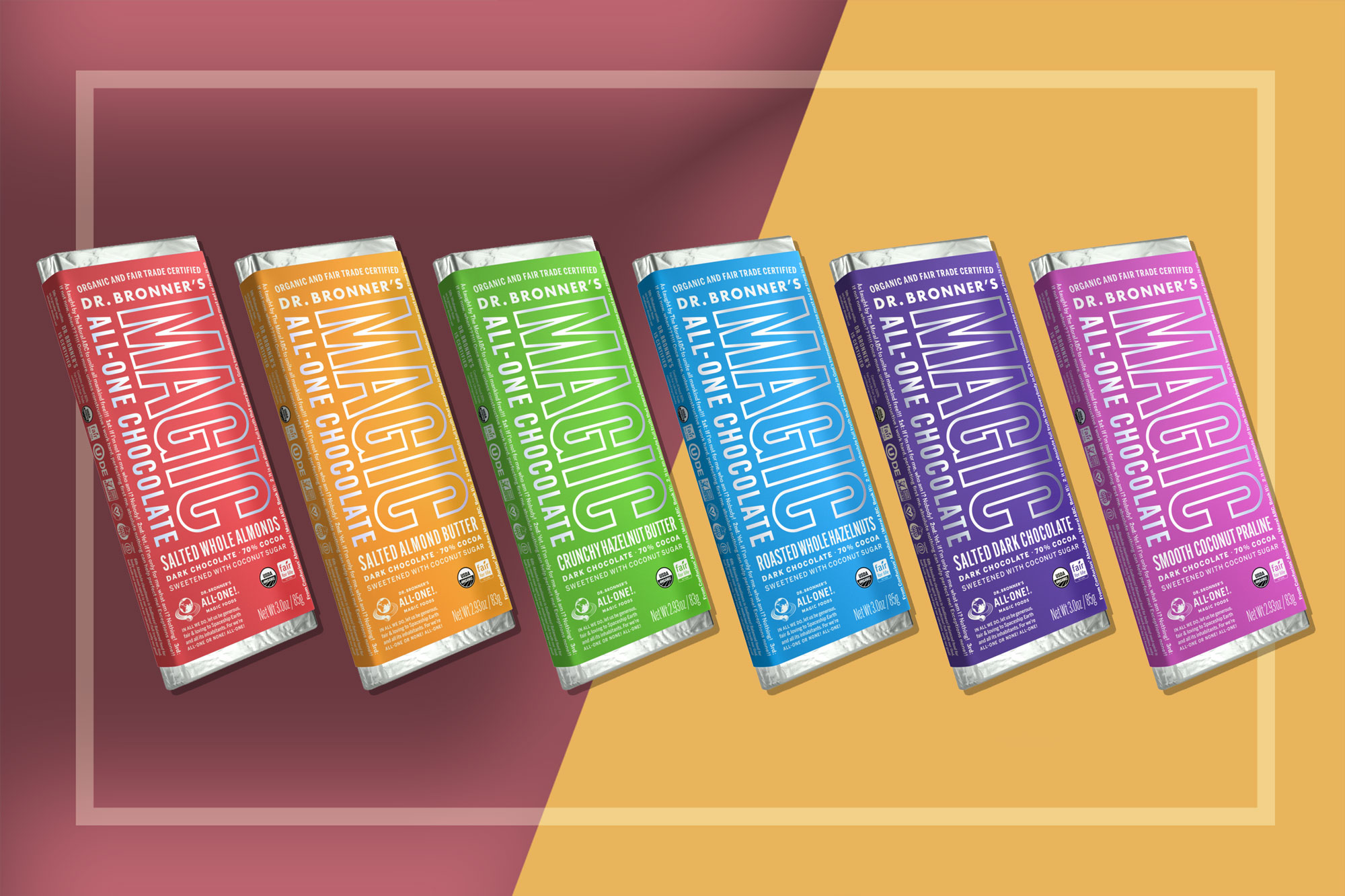 Dr. Bronner's Chocolate bars in assorted flavors