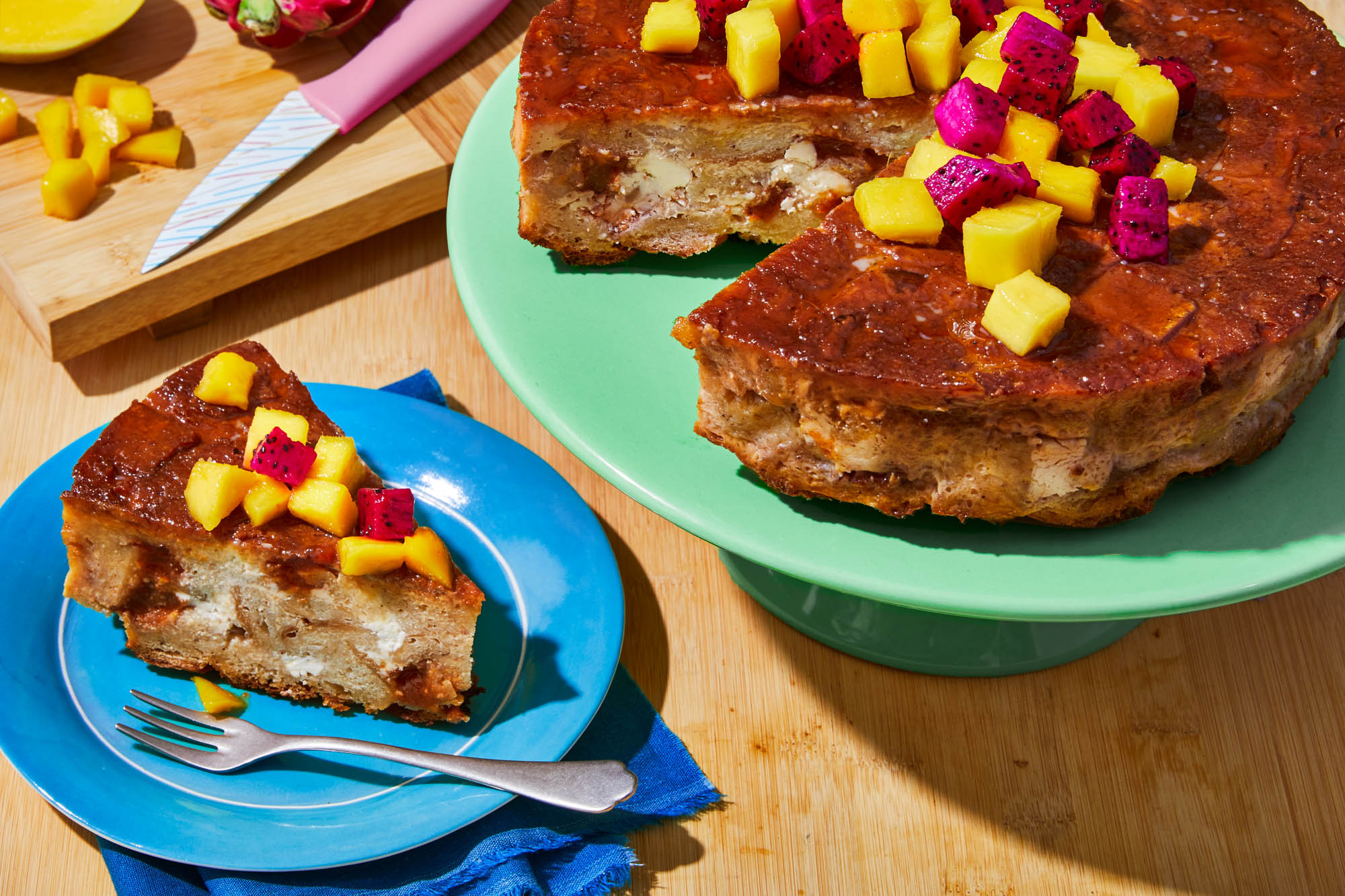 Guava and Cheese Bread Pudding