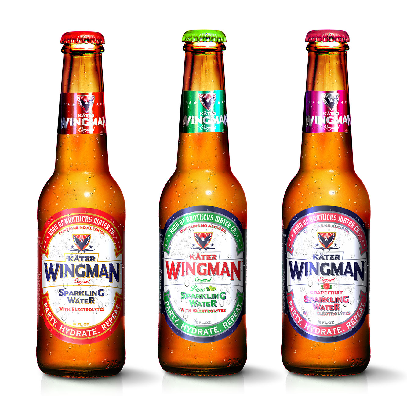 Wingman sparkling water with electrolytes