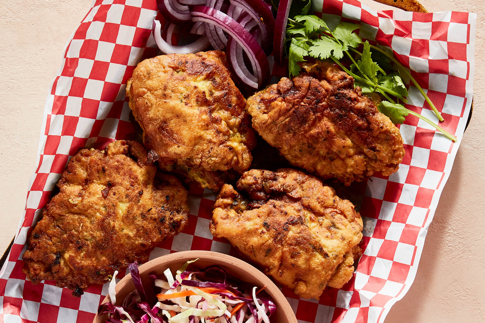 Marghi Na Farcha (Parsi Fried Chicken)