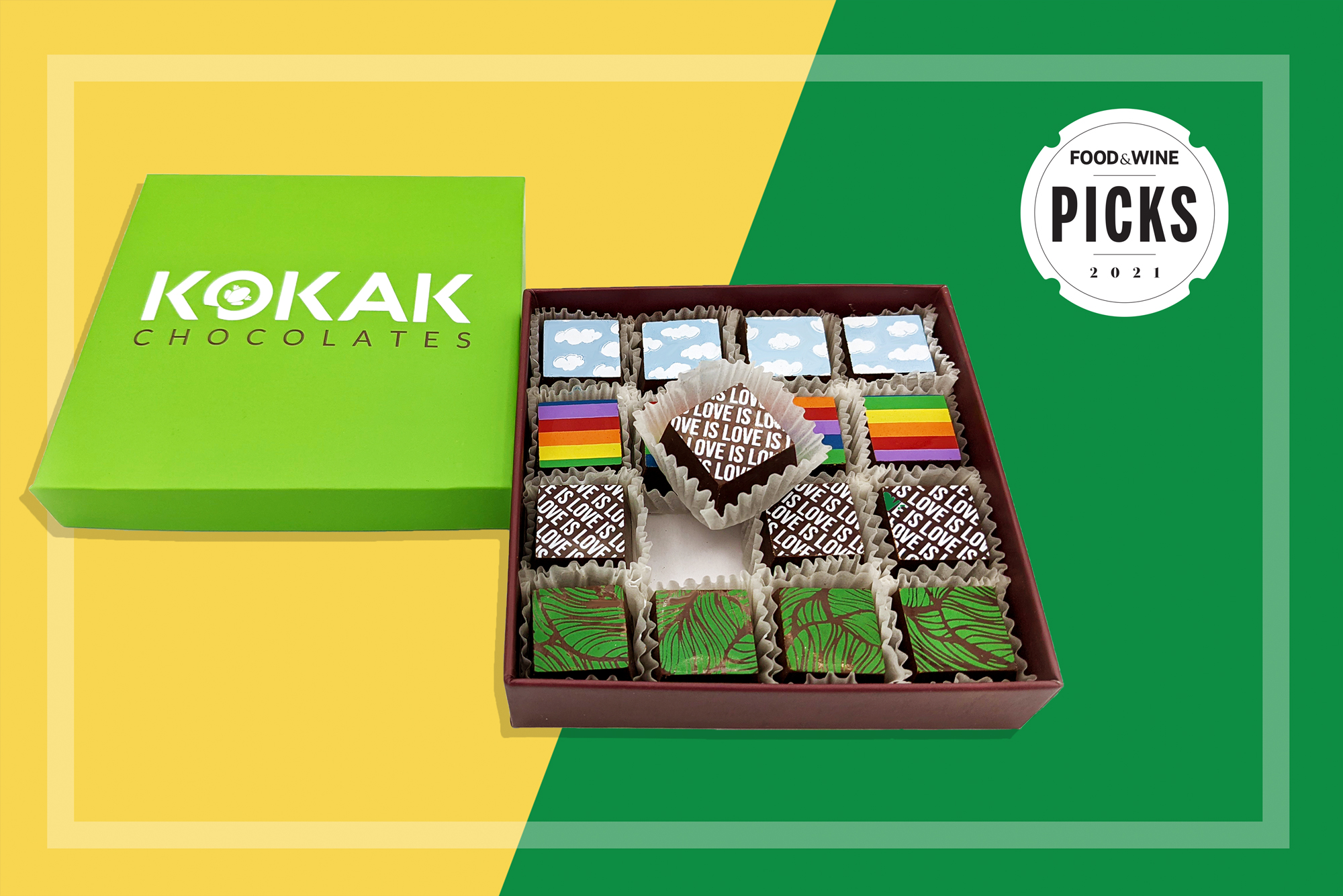 Kokak Chocolates Out and Proud SF Pride Truffle Collection