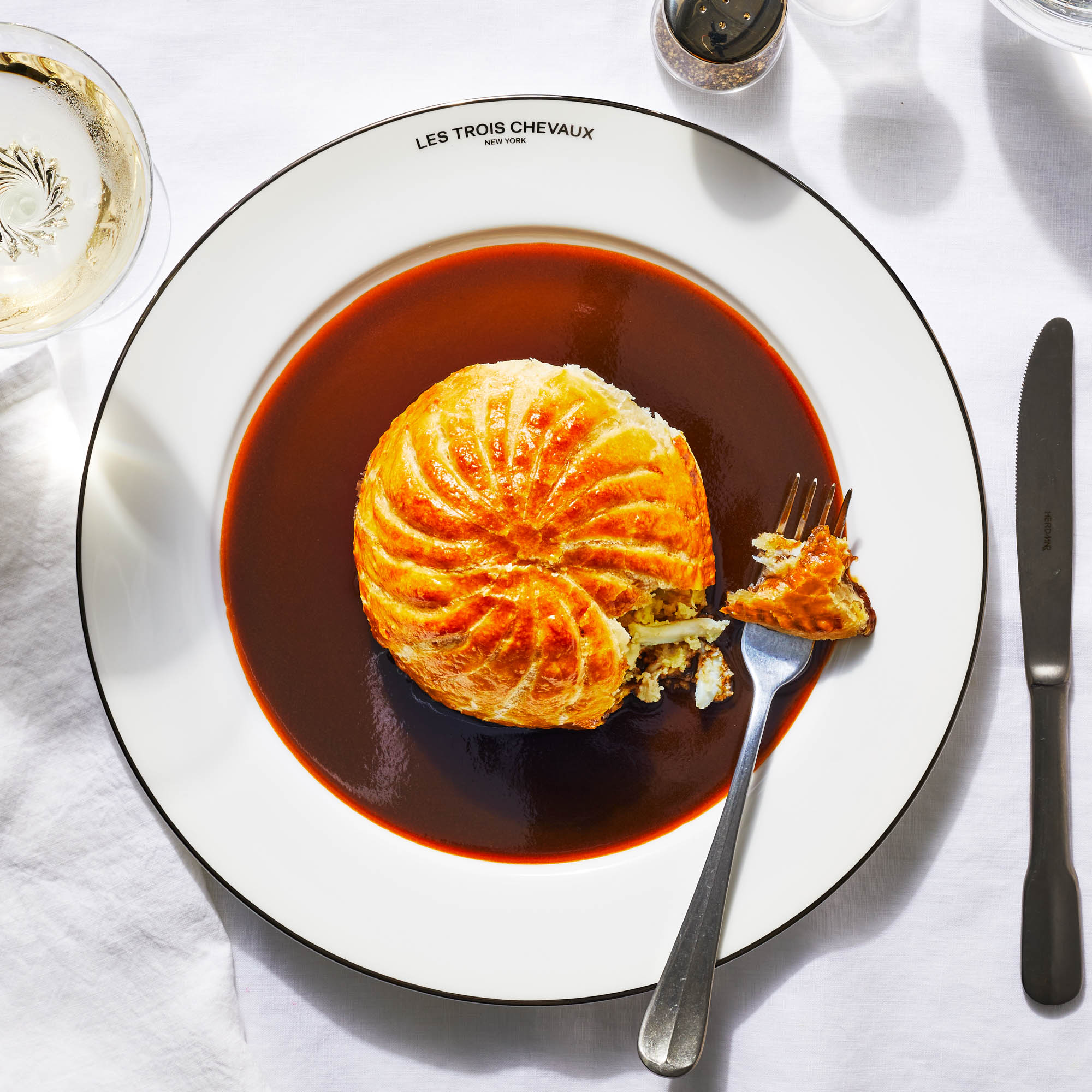 Crab Pithivier with Scallop Frangipane
