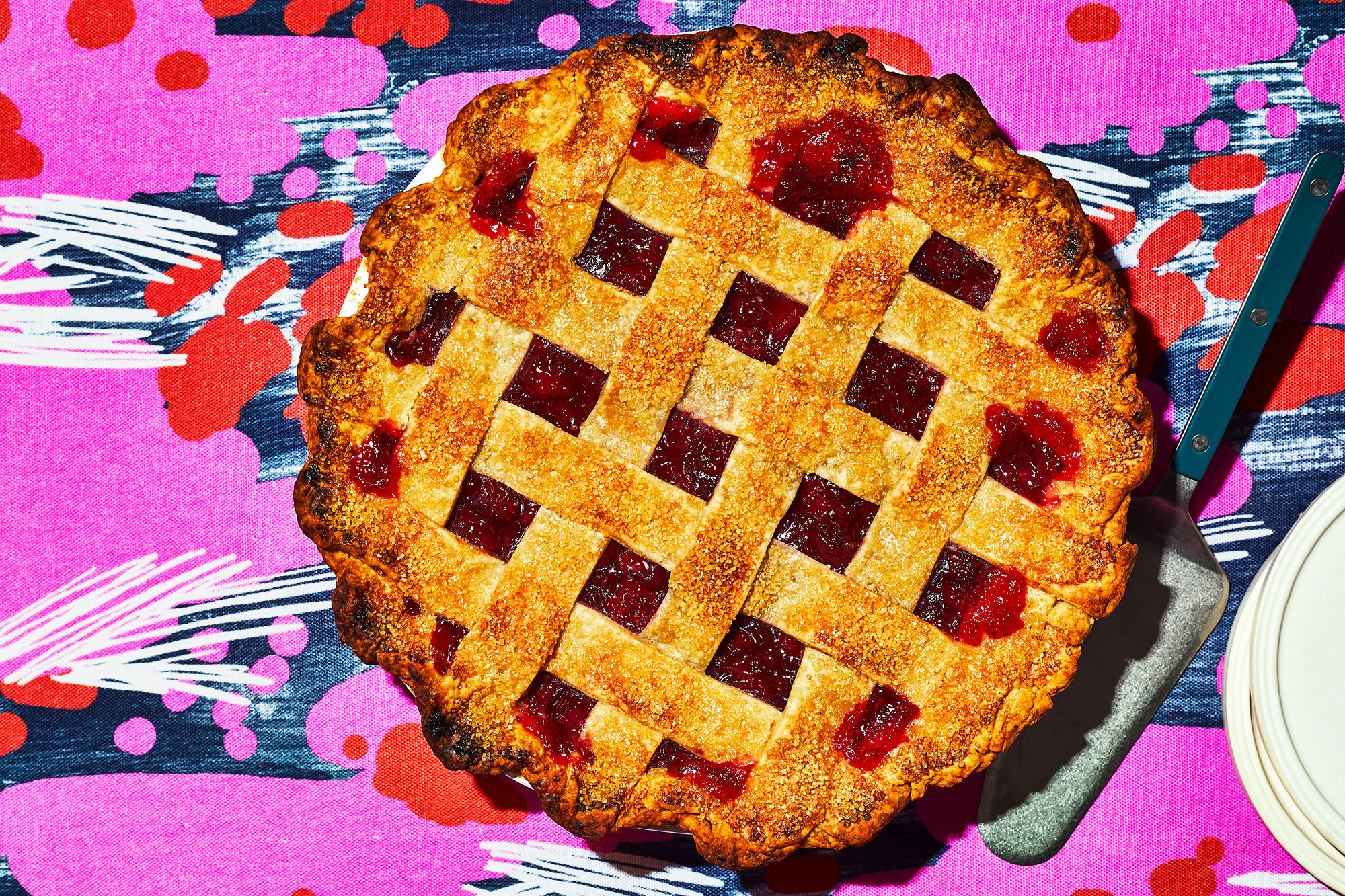 Sour Cherry and Black Pepper Pie