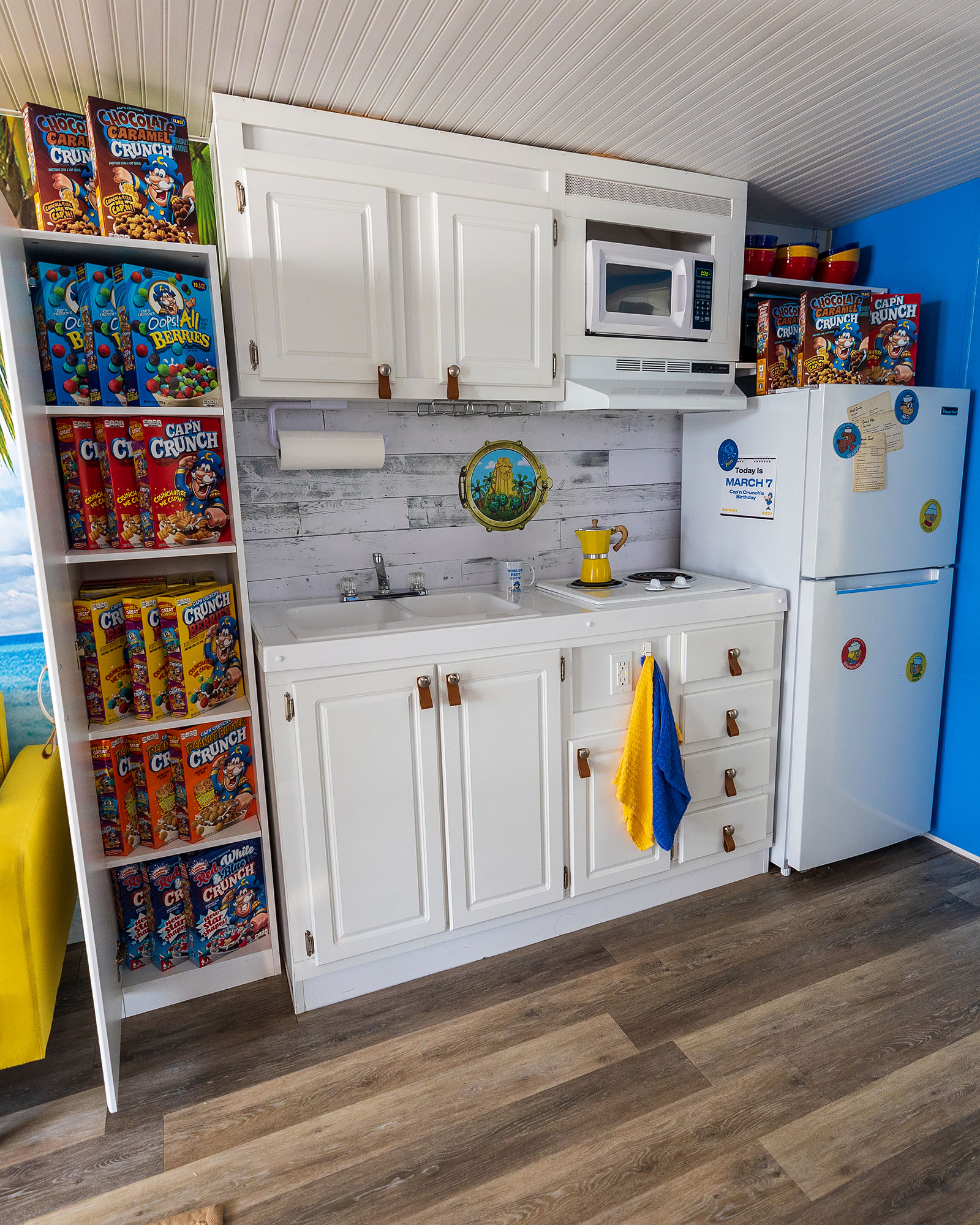The kitchen in the Cap'n's Quarters