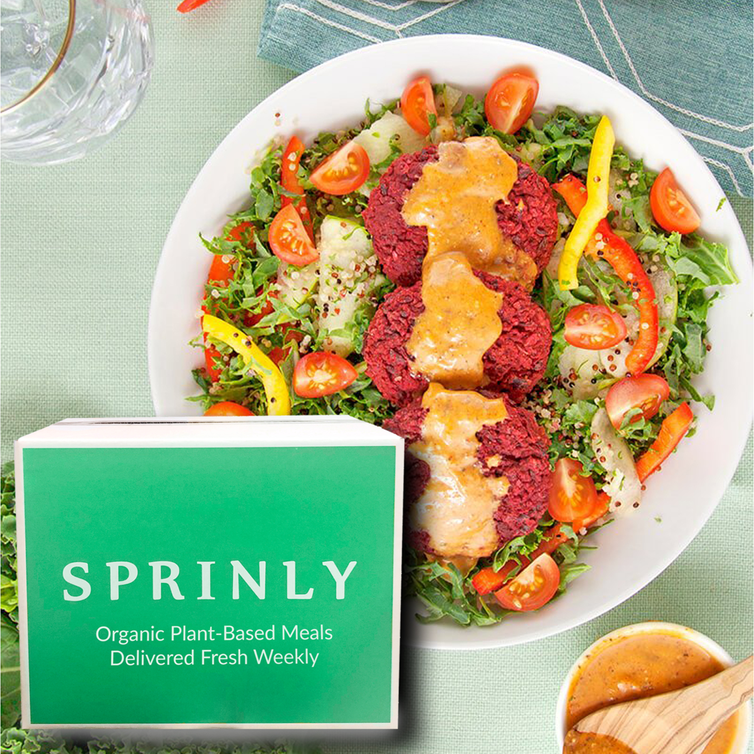 Sprinly organic plant-based meal delivery