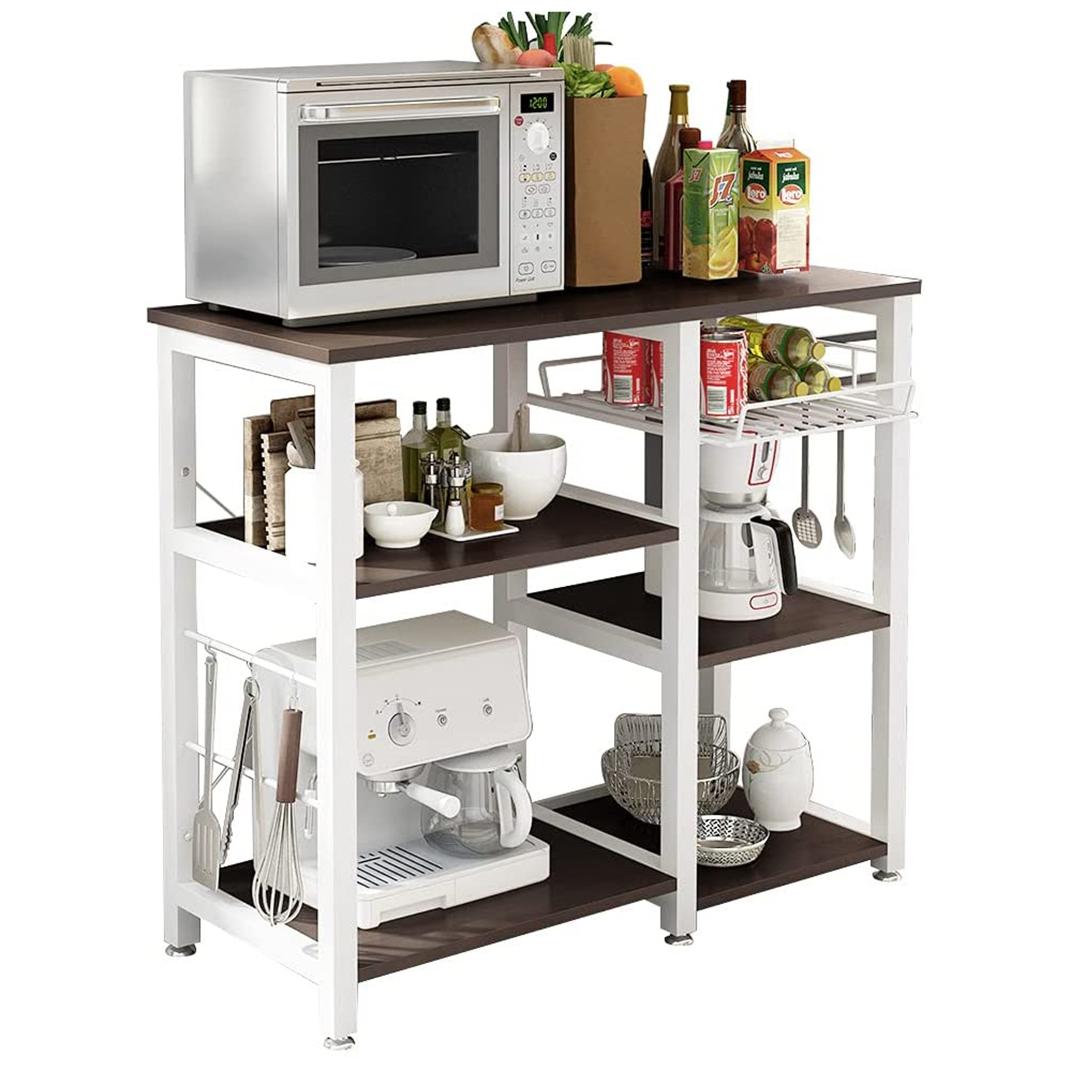 Soges 3-Tier Kitchen Baker's Rack Utility Microwave Oven Stand Storage Cart