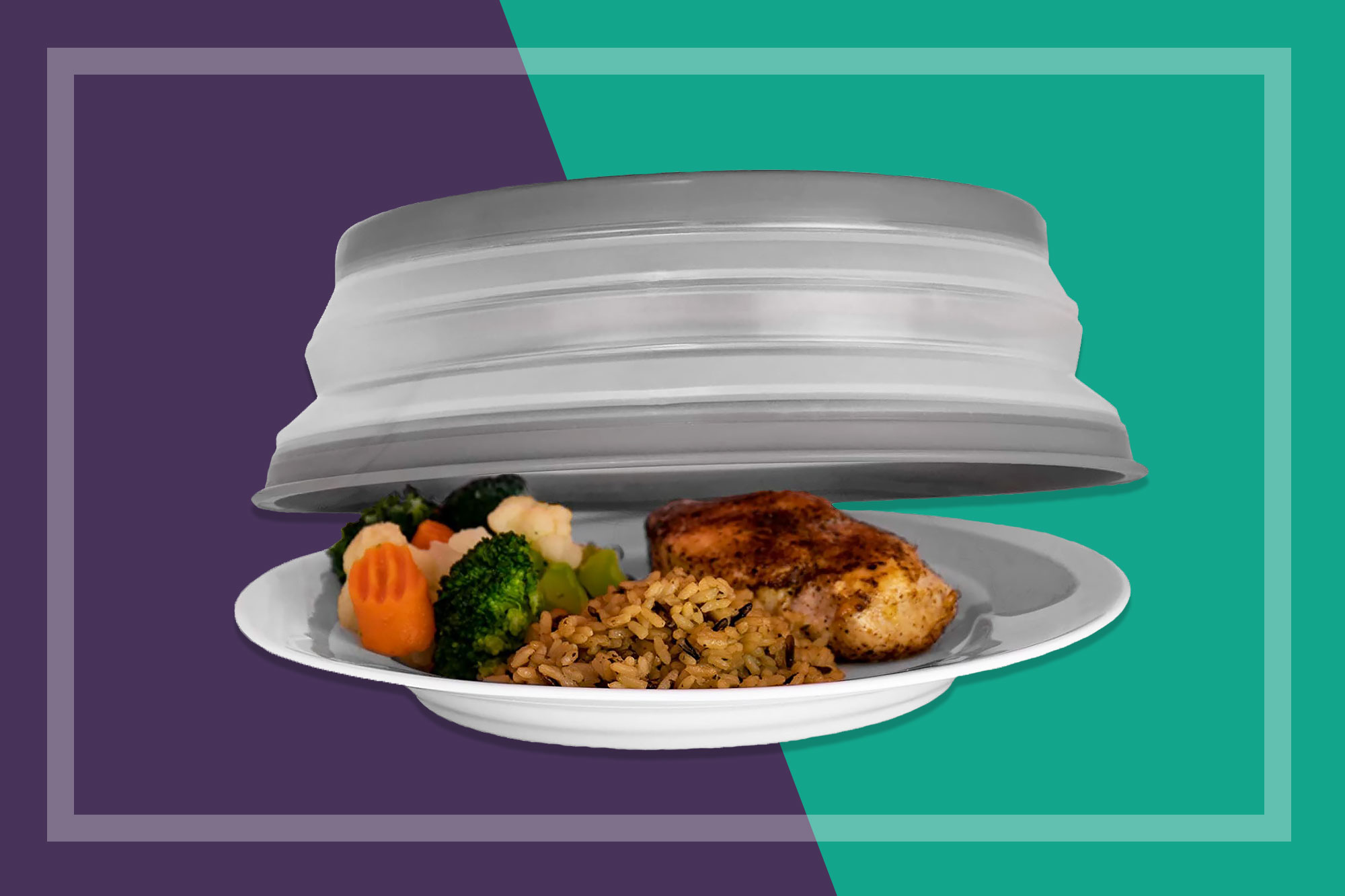 Tovolo Vented Collapsible Microwave Splatter Proof Food Plate Cover